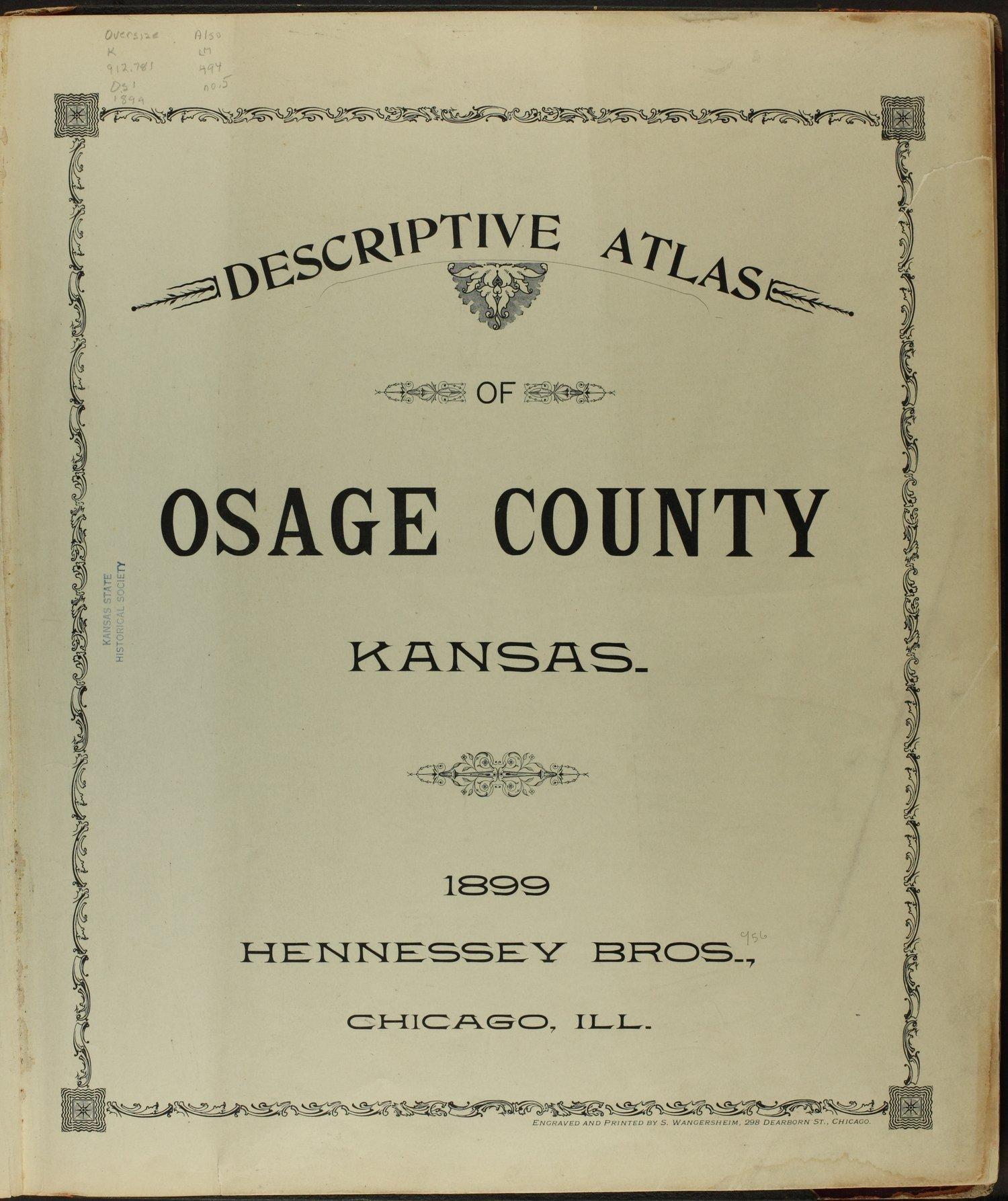 Descriptive atlas of Osage County, Kansas - Title Page