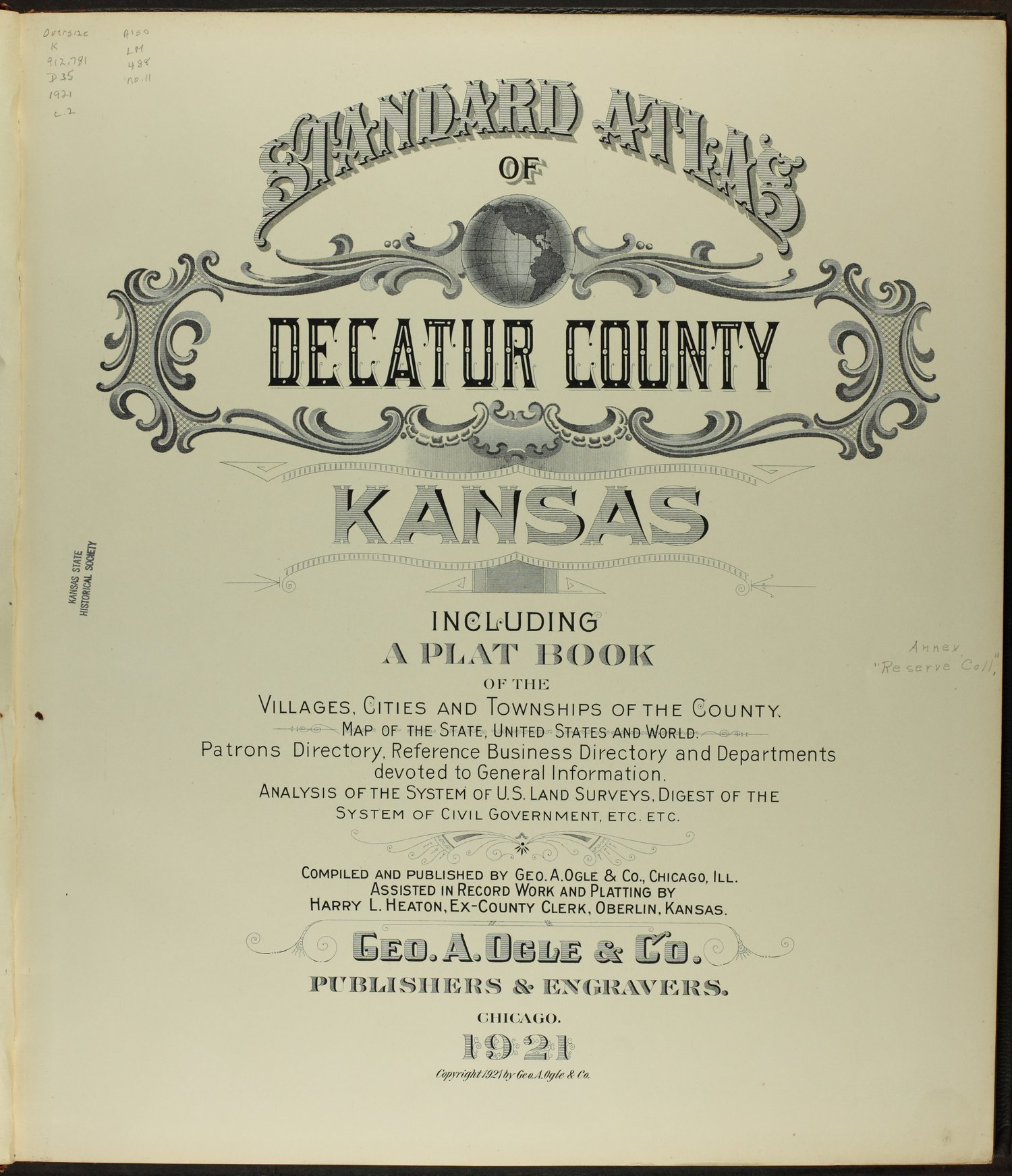 Standard atlas of Decatur County, Kansas - Title page