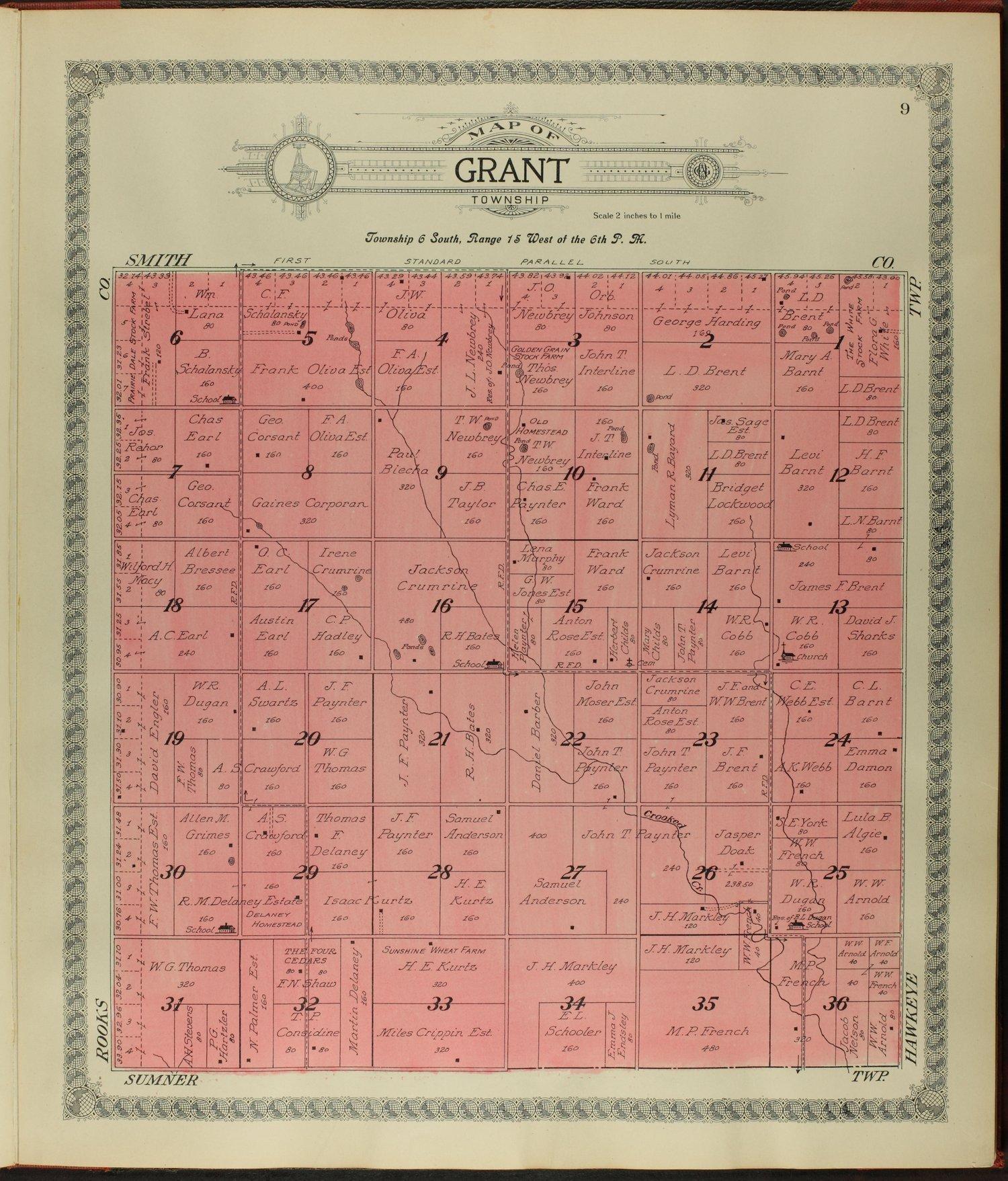 Standard atlas of Osborne County, Kansas - 9
