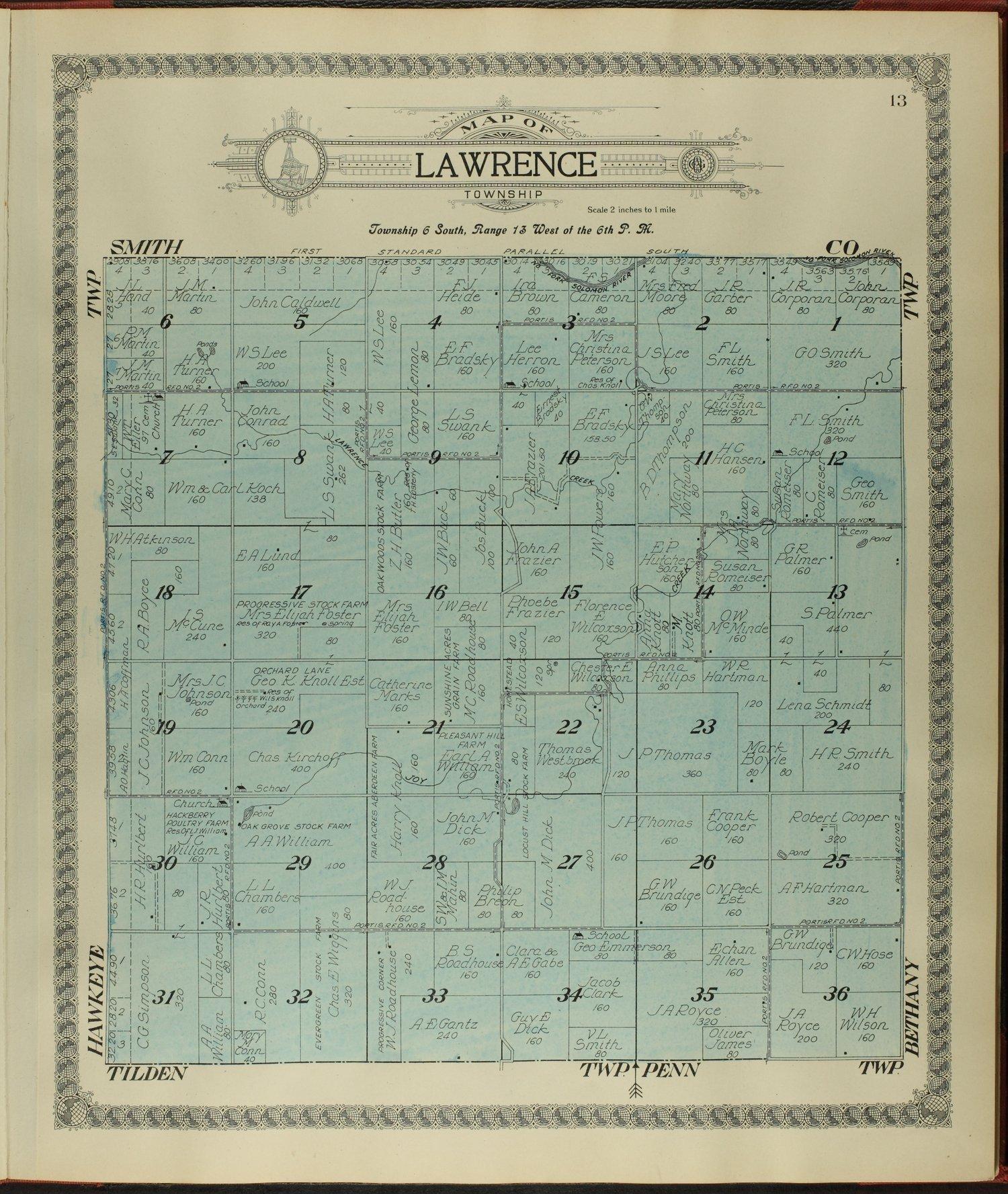 Standard atlas of Osborne County, Kansas - 13