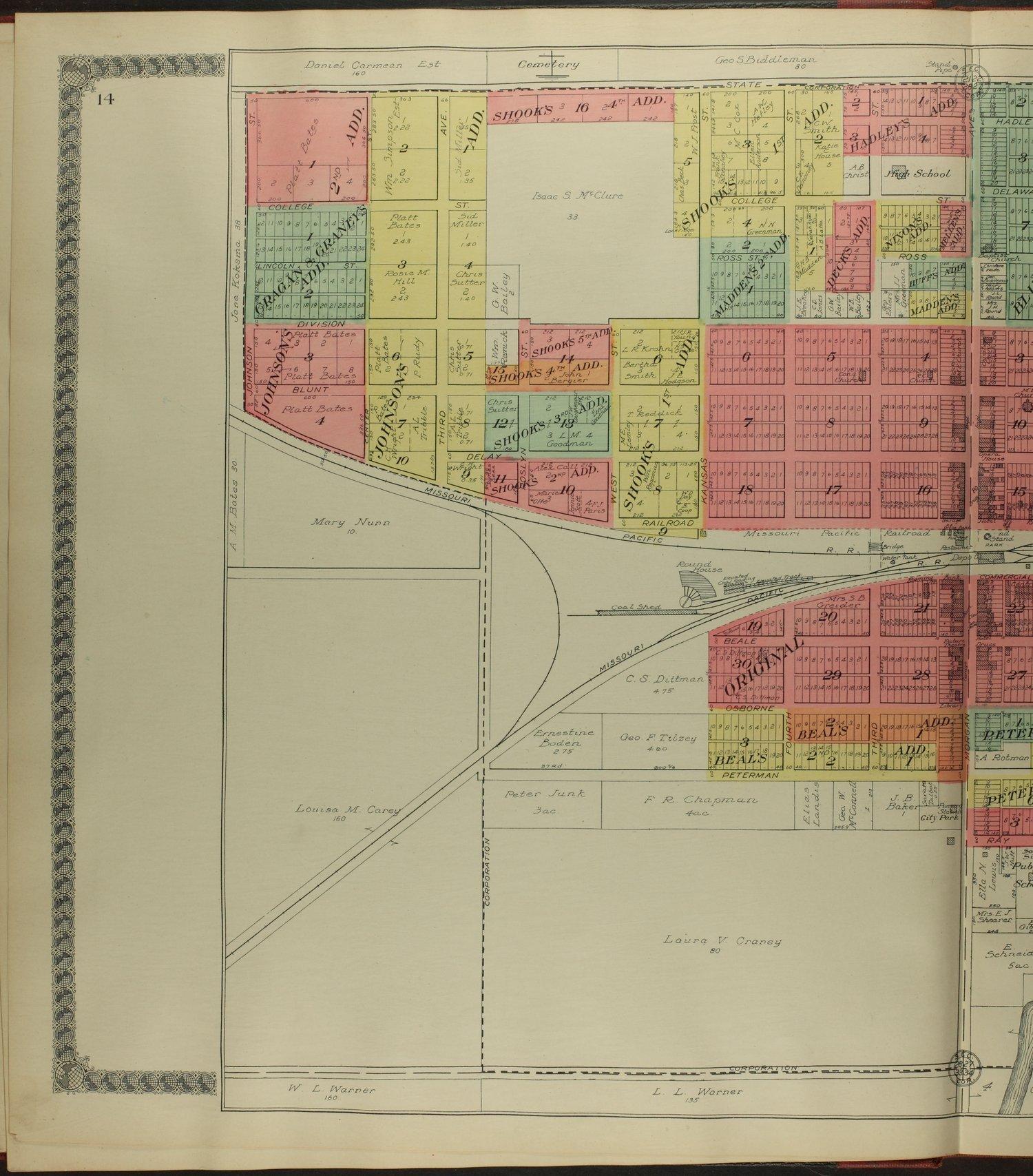 Standard atlas of Osborne County, Kansas - 14