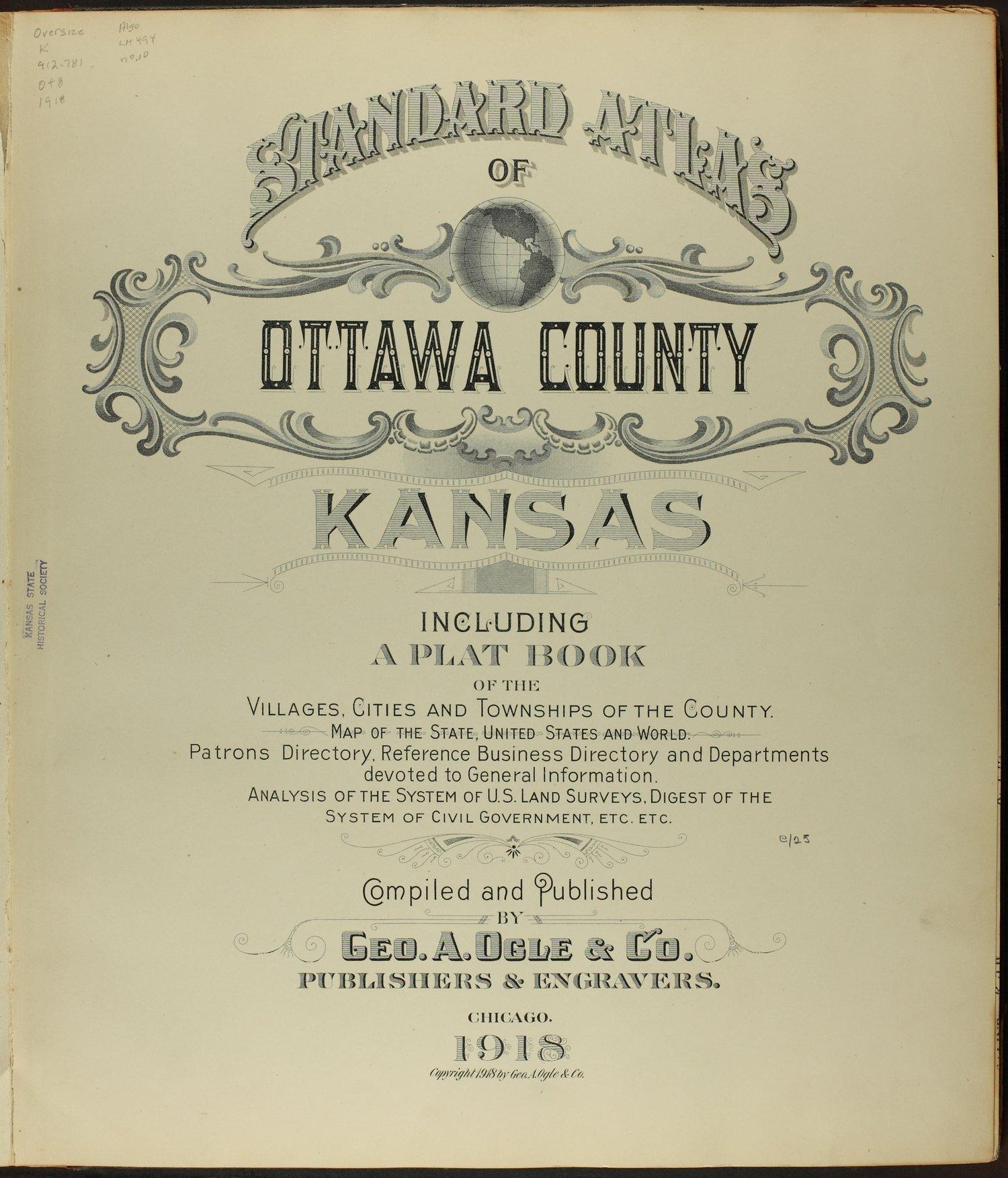 Standard atlas of Ottawa County, Kansas - Title page