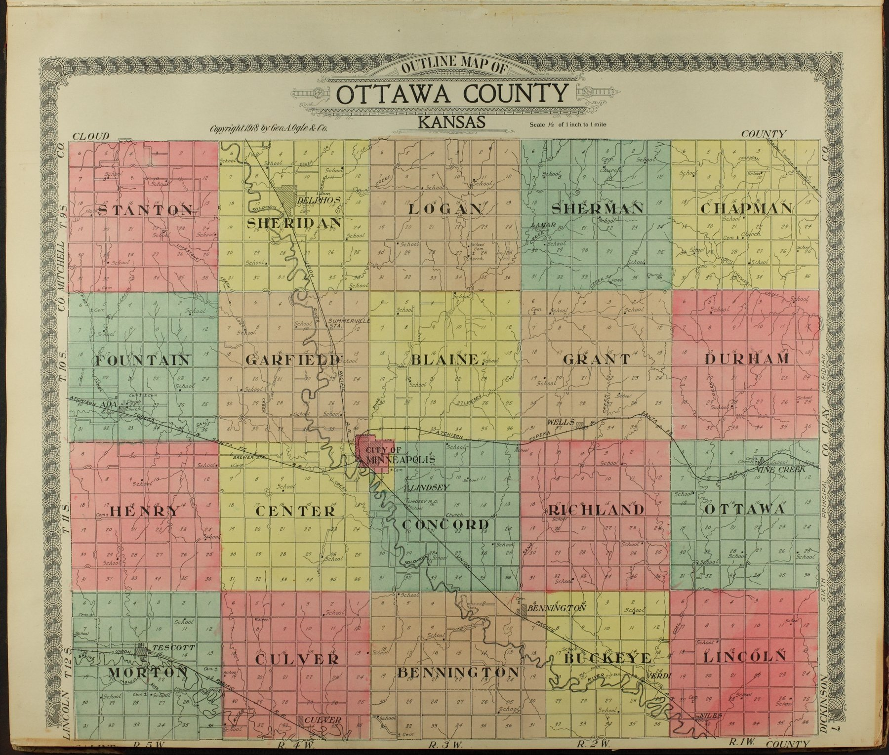 Standard atlas of Ottawa County, Kansas - 7