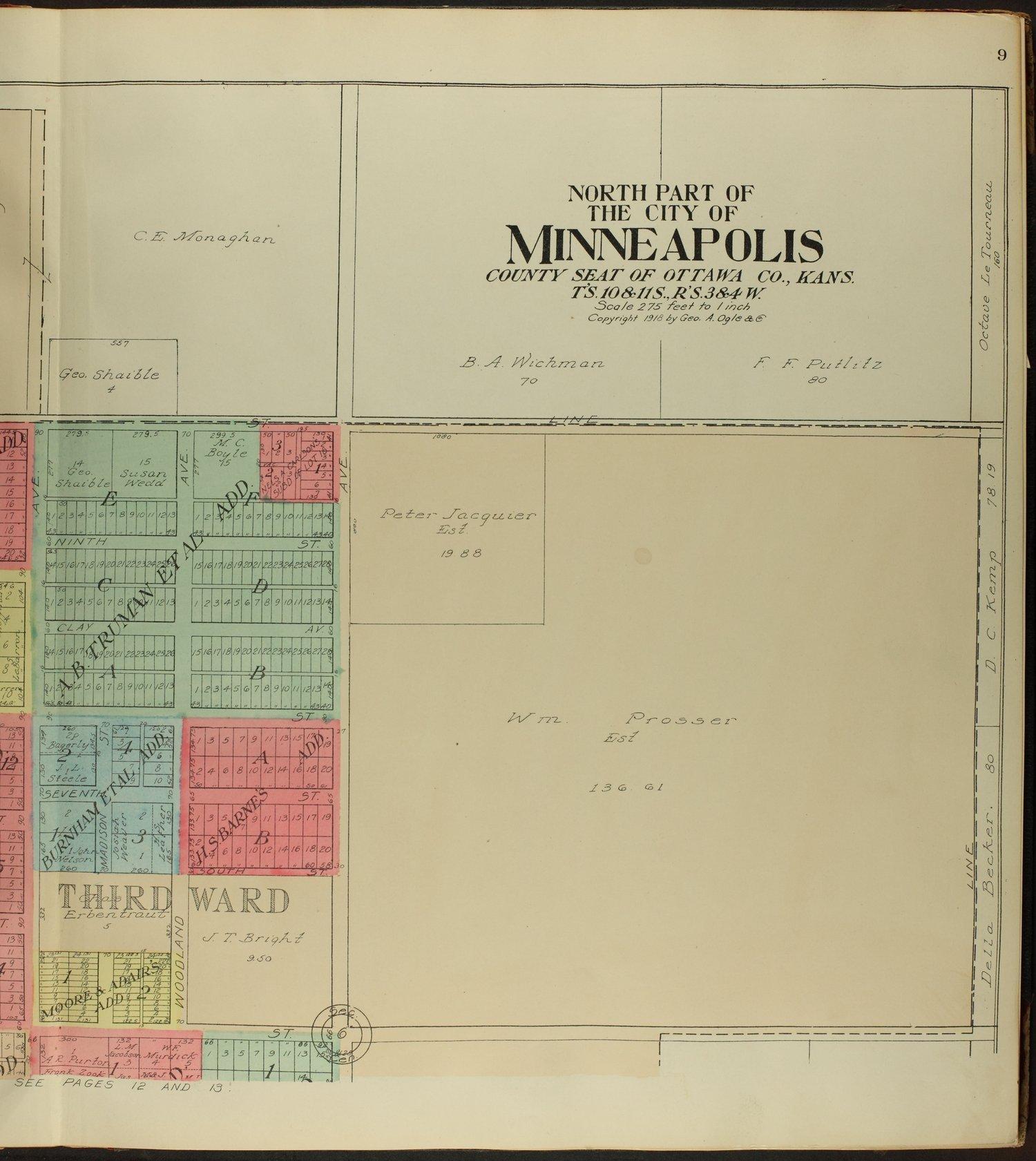 Standard atlas of Ottawa County, Kansas - 9