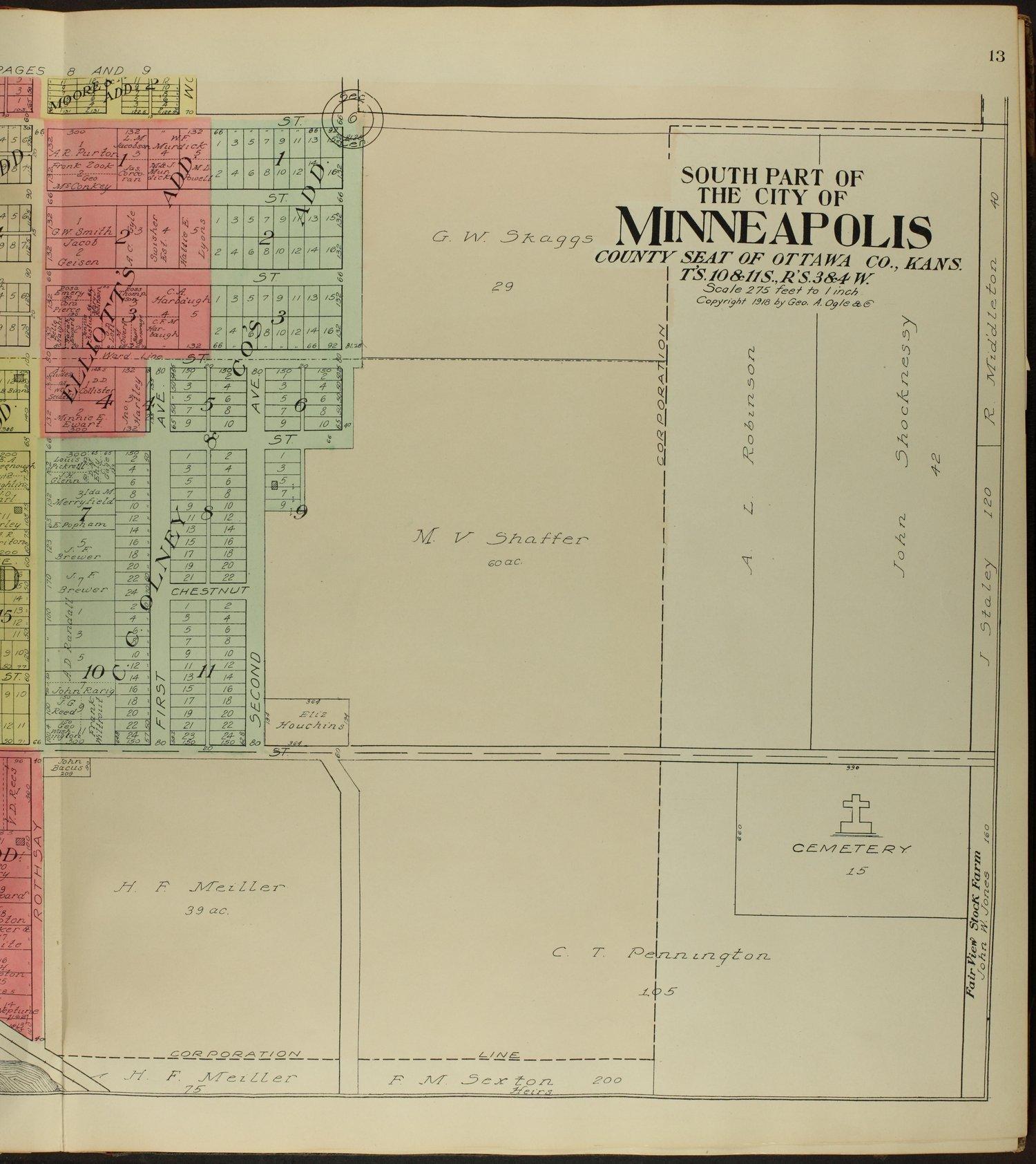 Standard atlas of Ottawa County, Kansas - 13