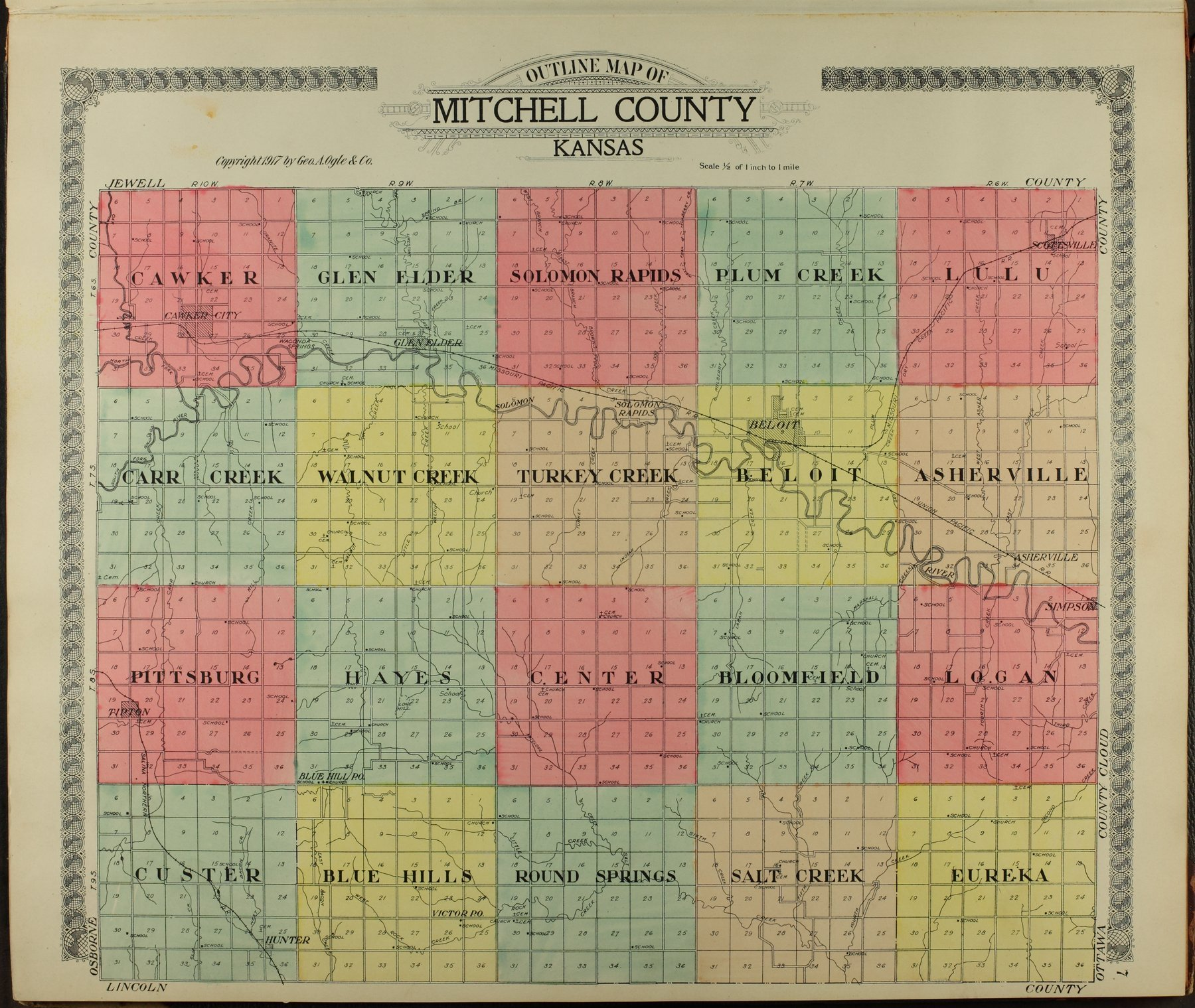 Standard atlas of Mitchell County, Kansas - 7