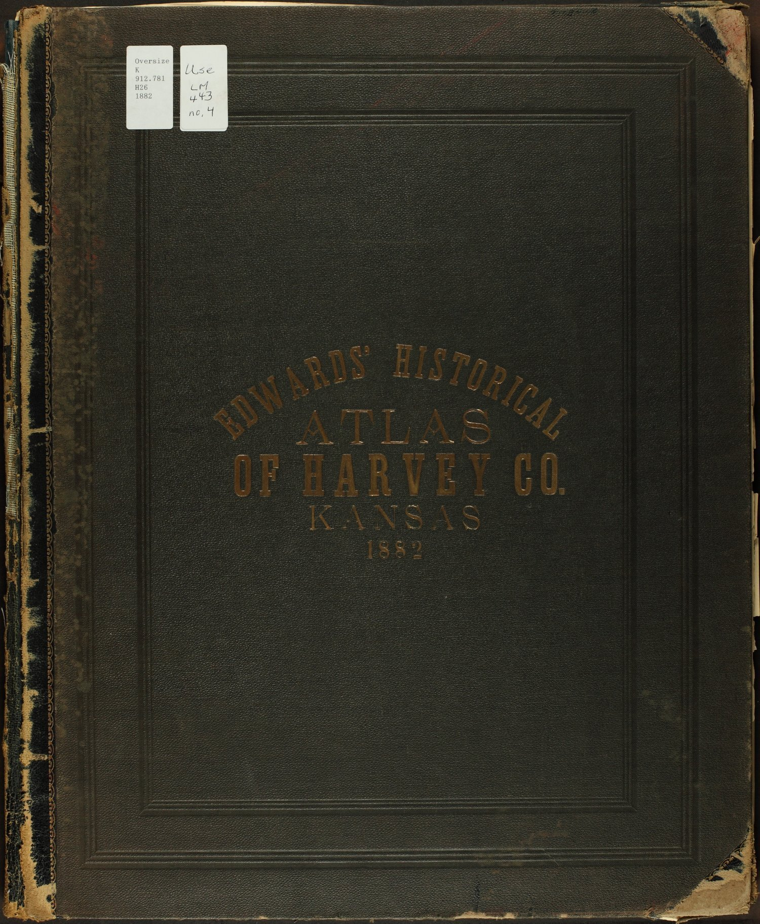 Historical atlas of Harvey County, Kansas - Front Cover