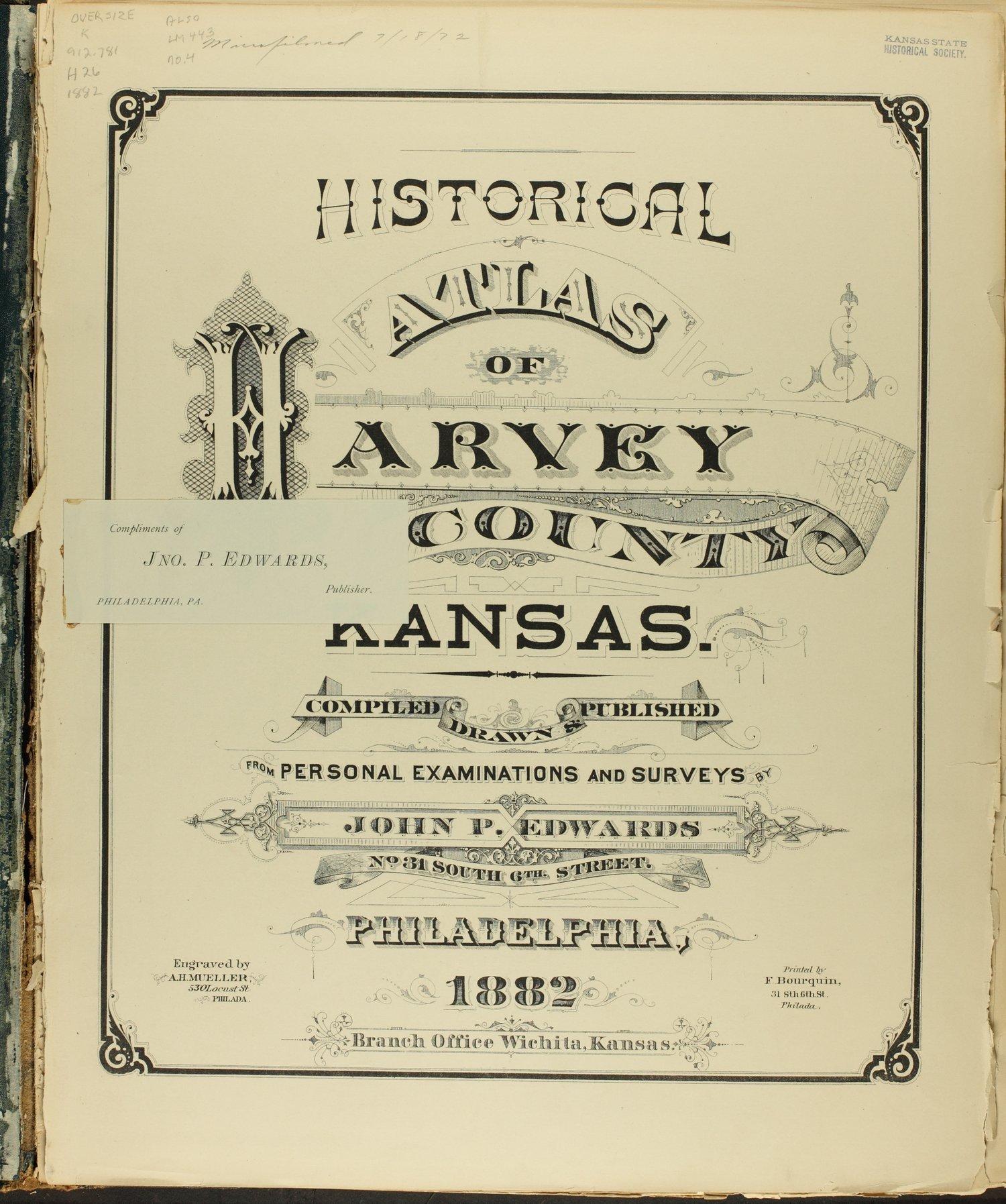 Historical atlas of Harvey County, Kansas - insert