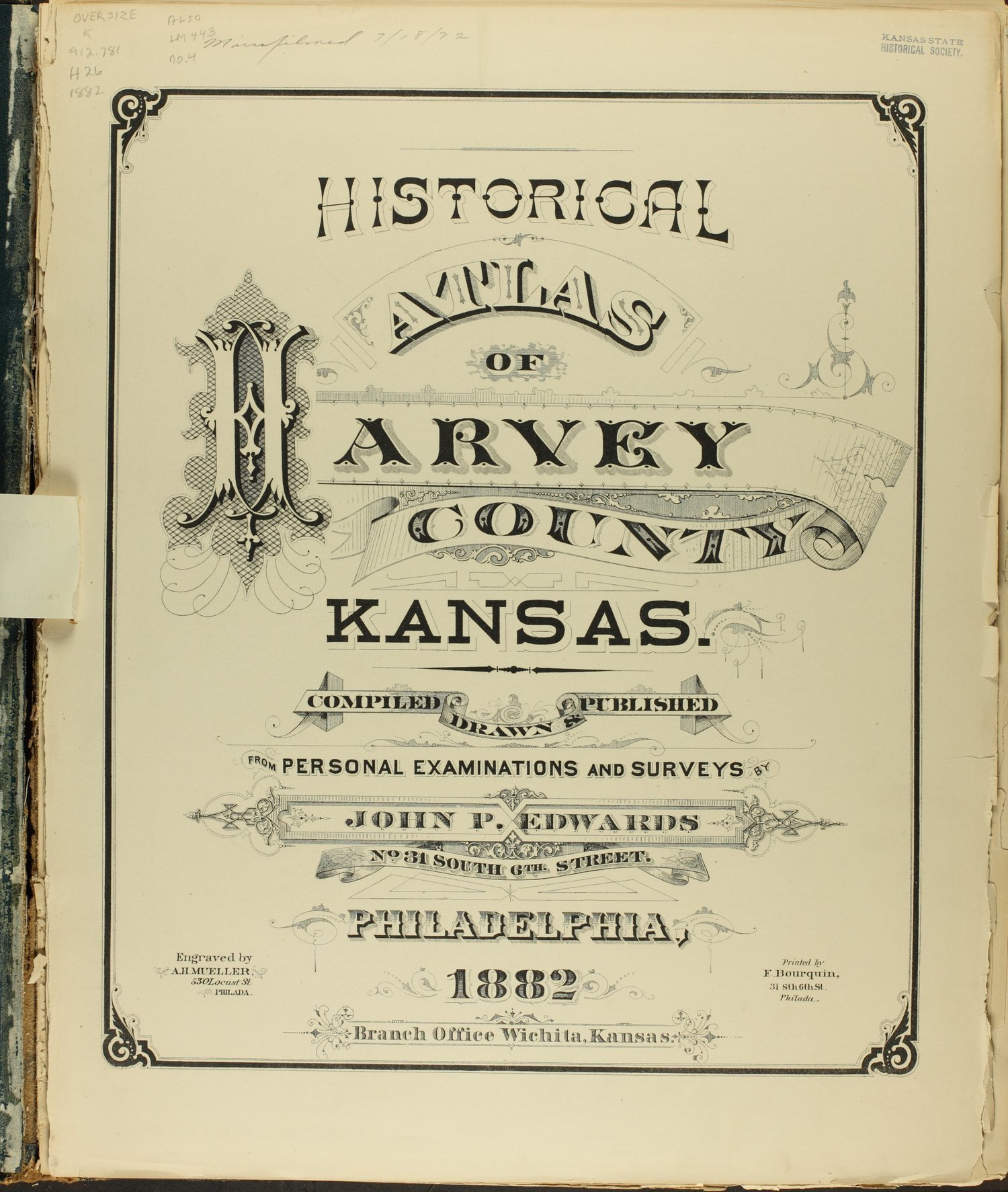 Historical atlas of Harvey County, Kansas - Title Page