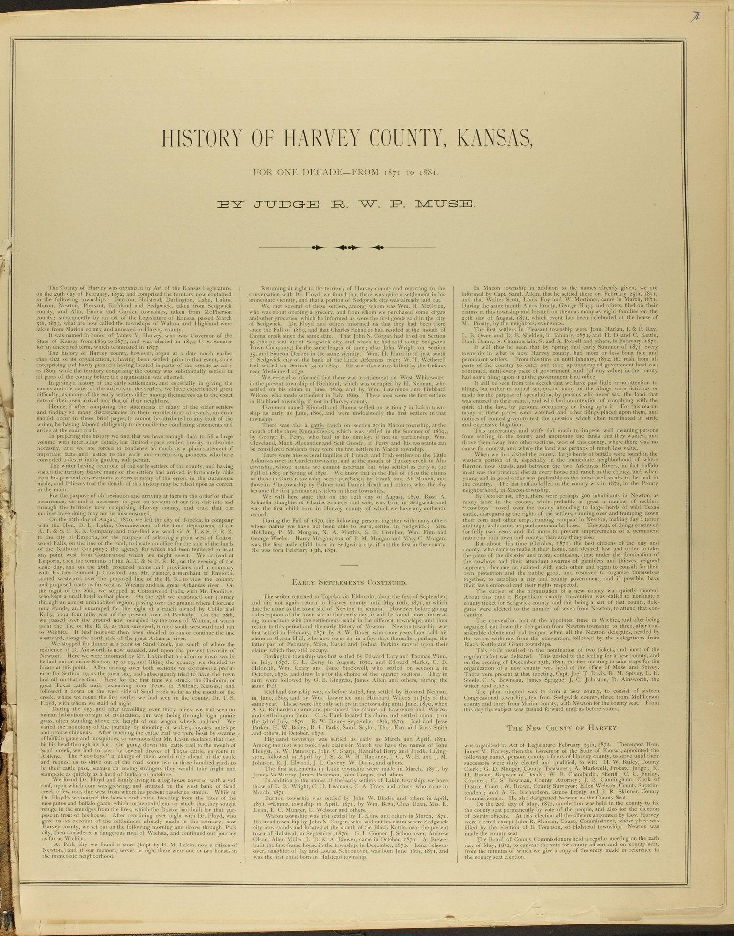 Historical atlas of Harvey County, Kansas - 7