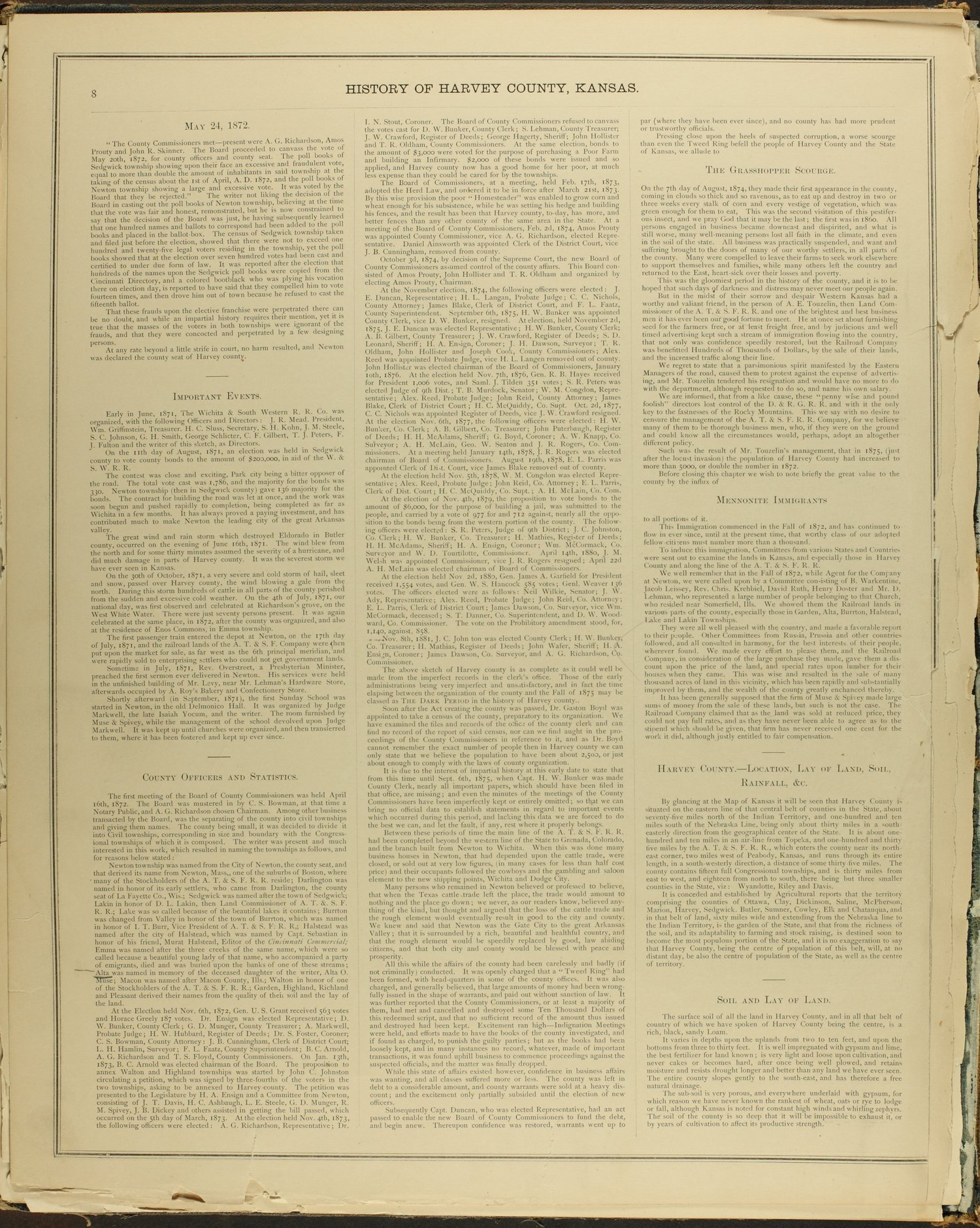 Historical atlas of Harvey County, Kansas - 8