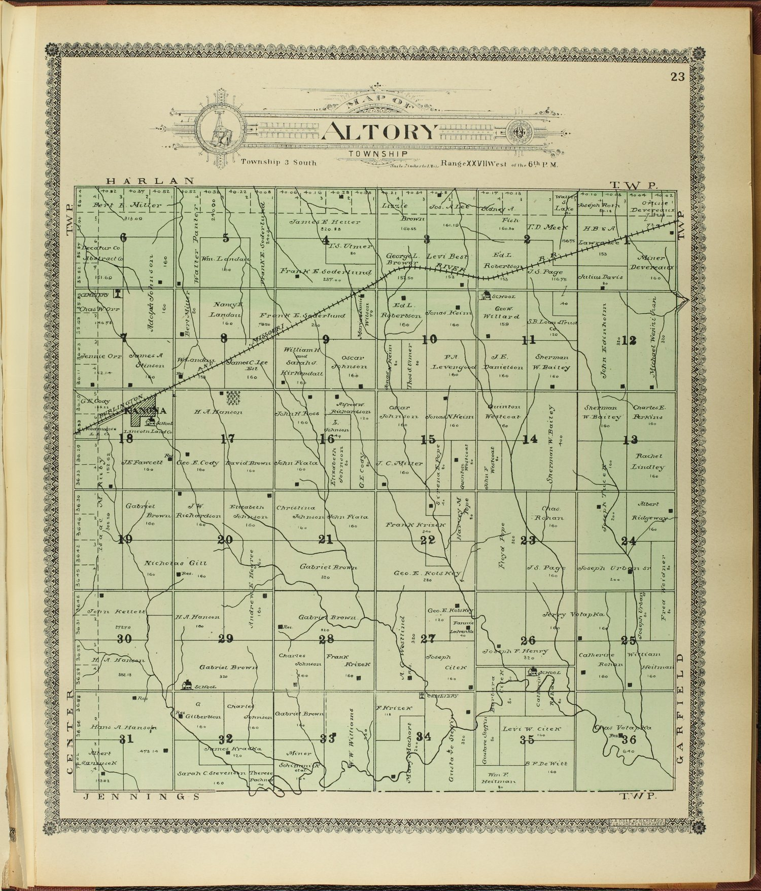 Standard atlas of Decatur County, Kansas - 23