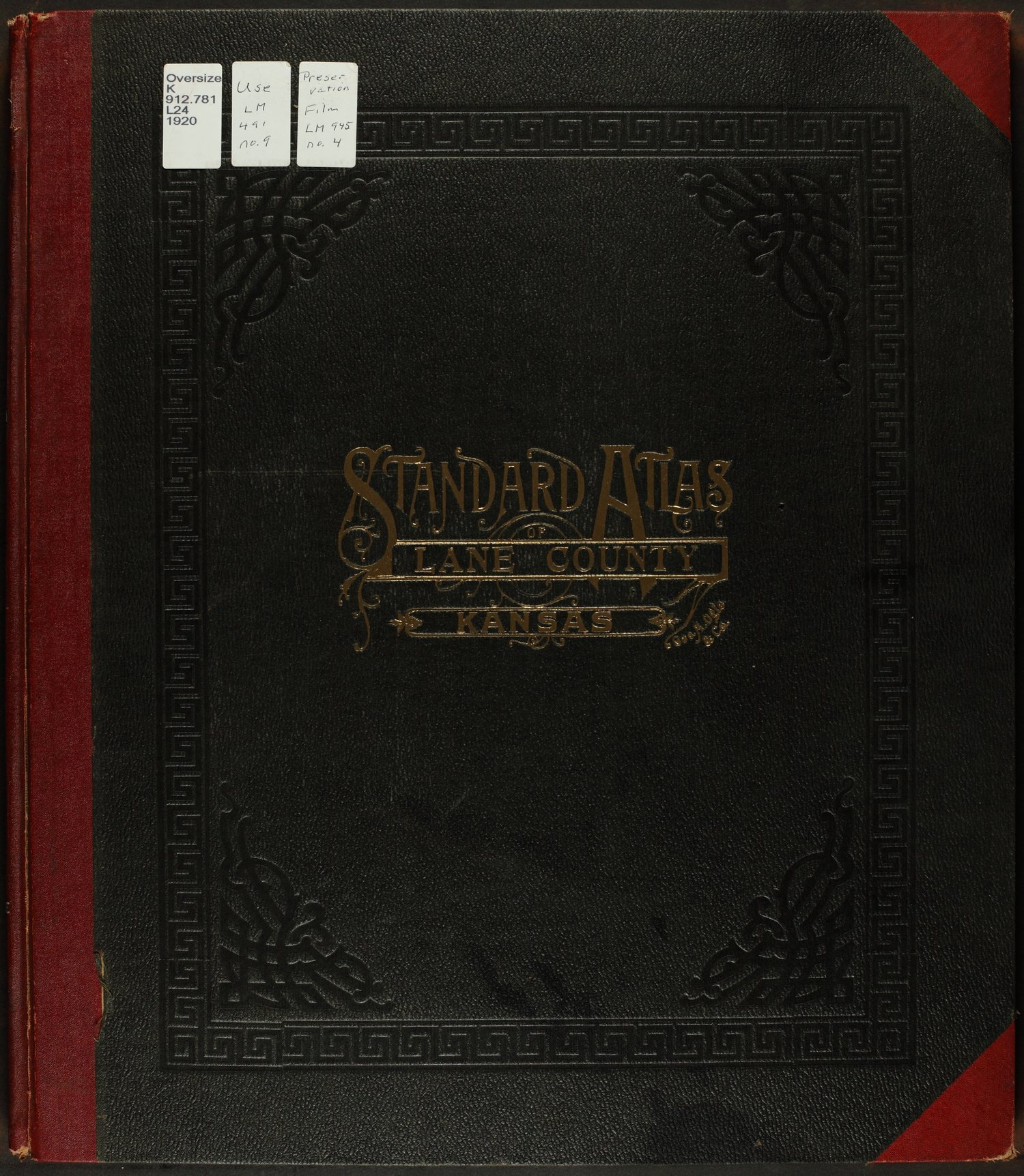 Standard atlas of Lane county, Kansas - Front Cover