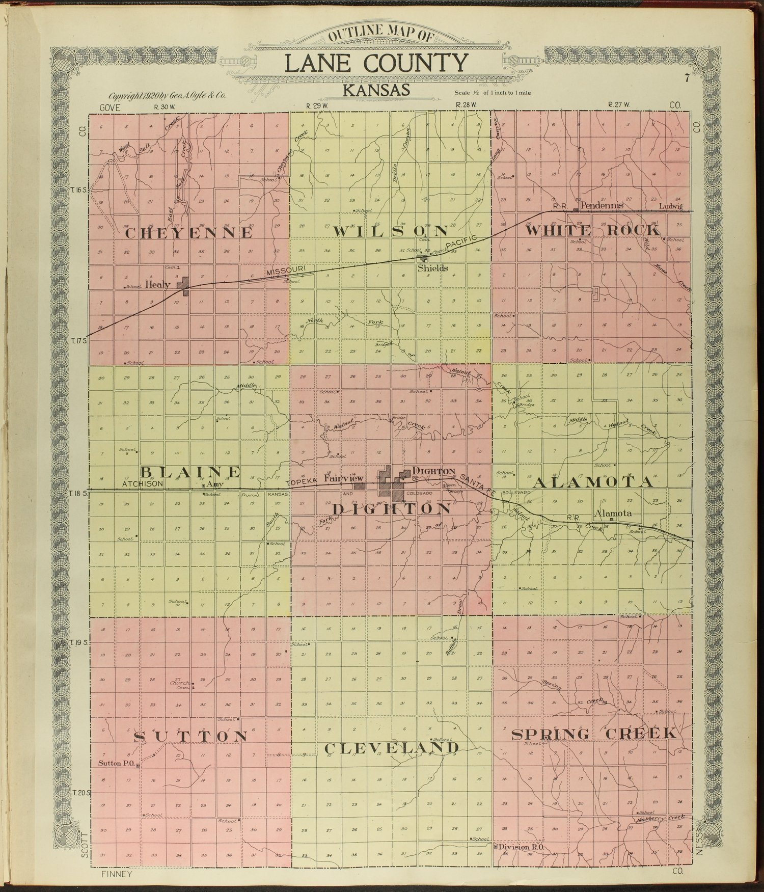 Standard atlas of Lane county, Kansas - 7