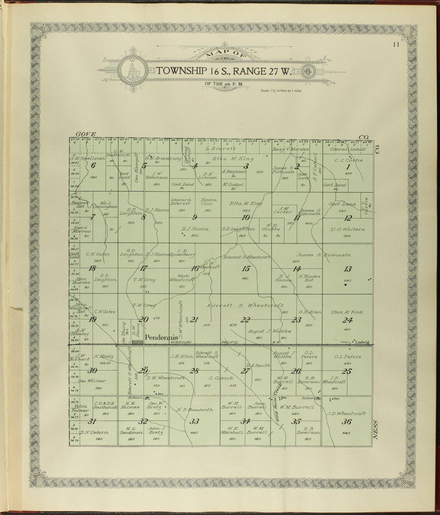 Standard atlas of Lane county, Kansas - 11