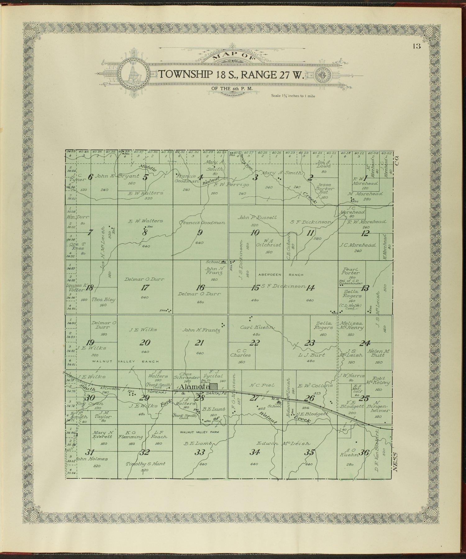 Standard atlas of Lane county, Kansas - 13