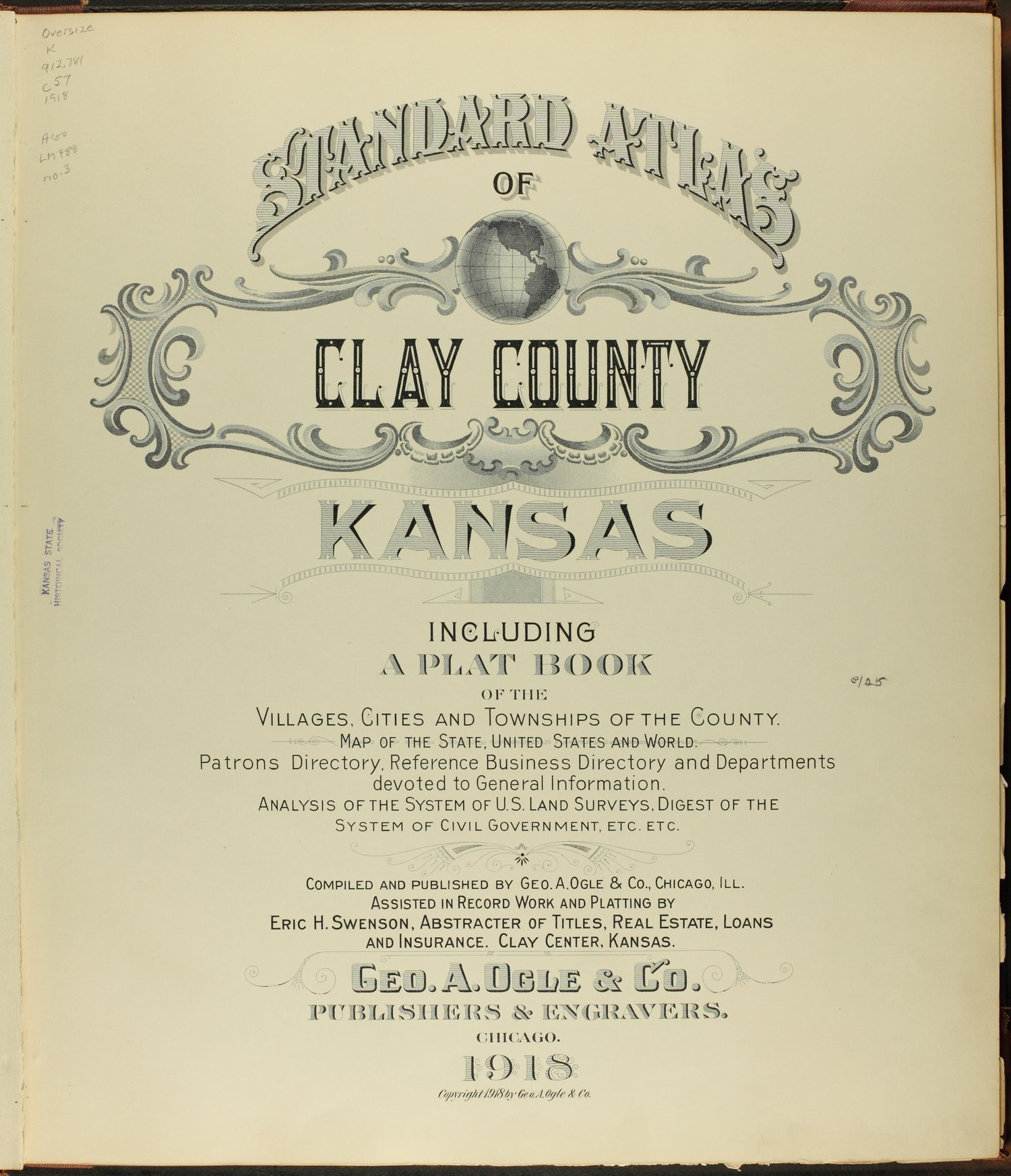 Standard atlas of Clay County, Kansas - Title Page