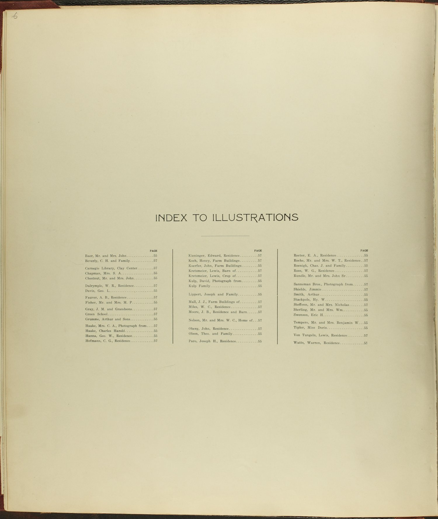 Standard atlas of Clay County, Kansas - Index to Illustrations