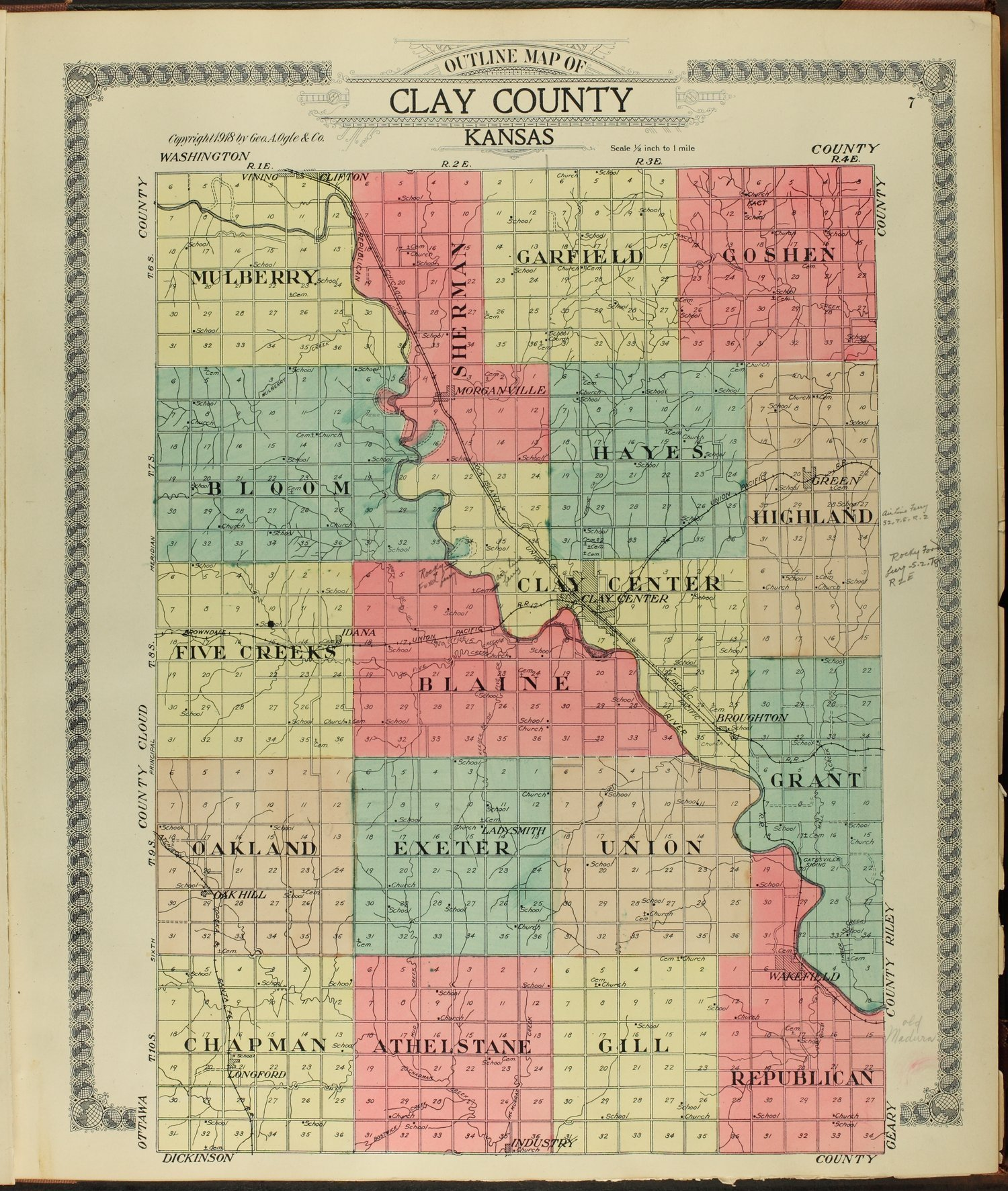 Standard atlas of Clay County, Kansas - 7