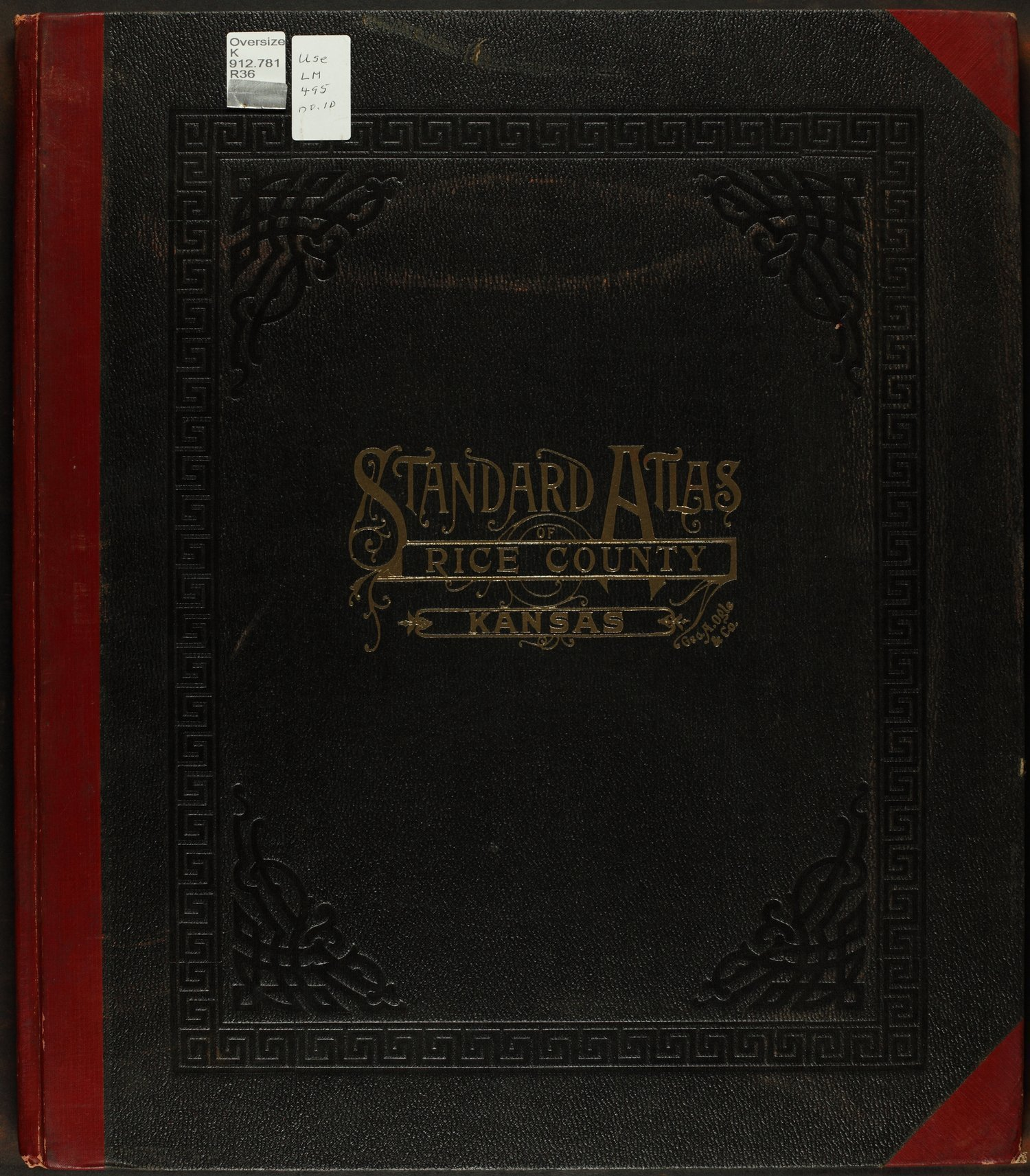 Standard atlas of Rice County, Kansas - Front Cover