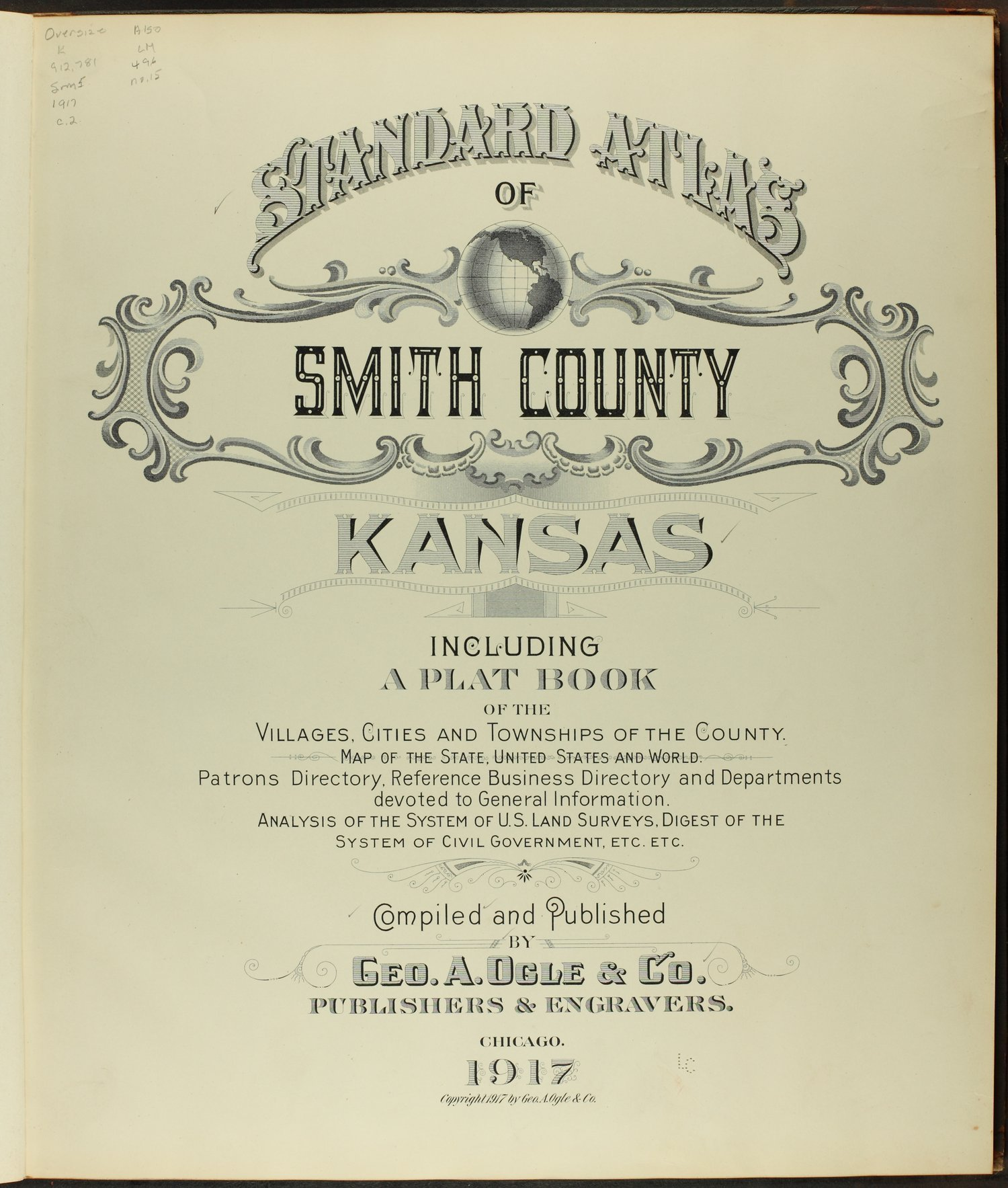 Standard atlas of Smith County, Kansas - Title Page