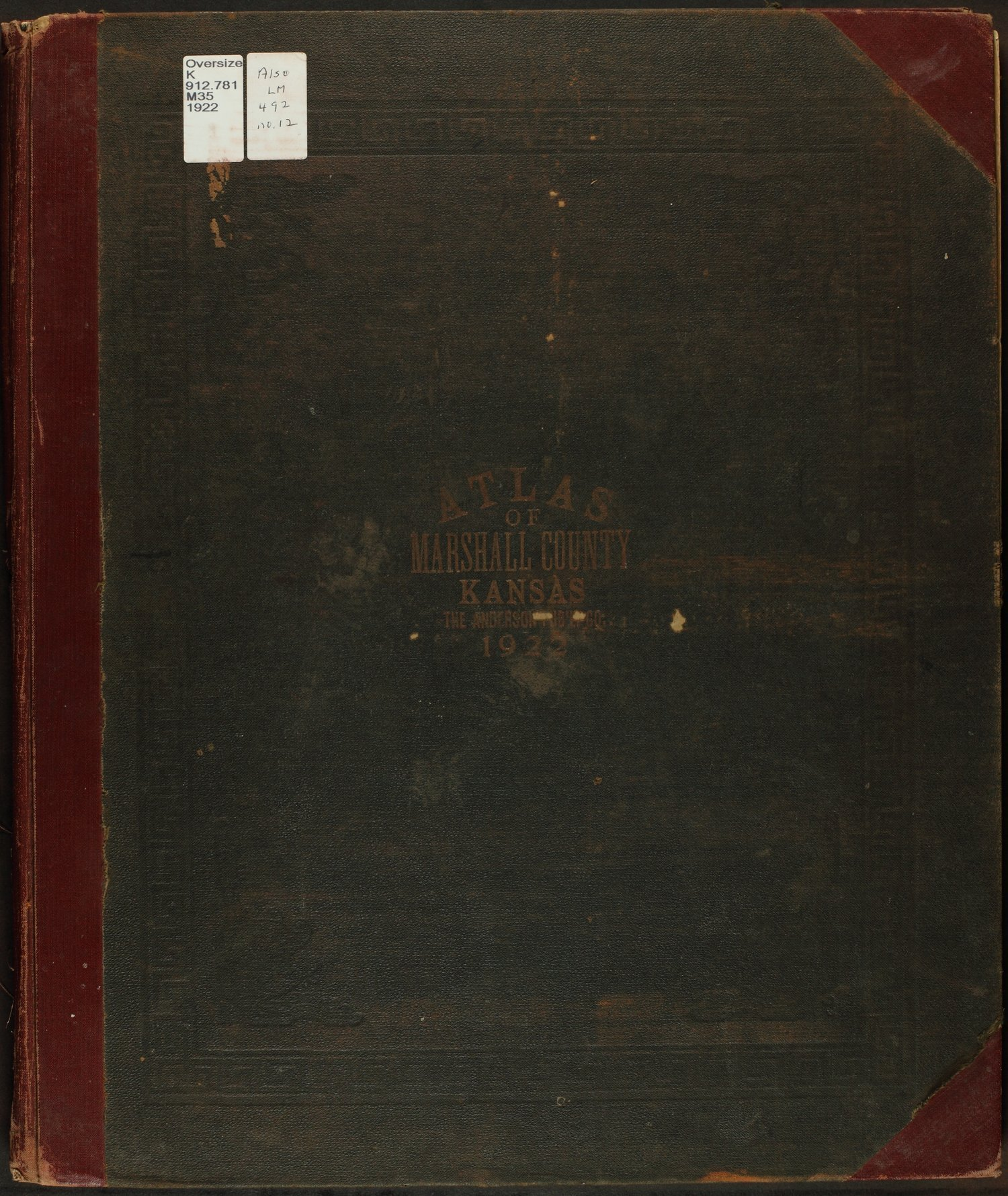 Atlas of Marshall County, Kansas - Front Cover