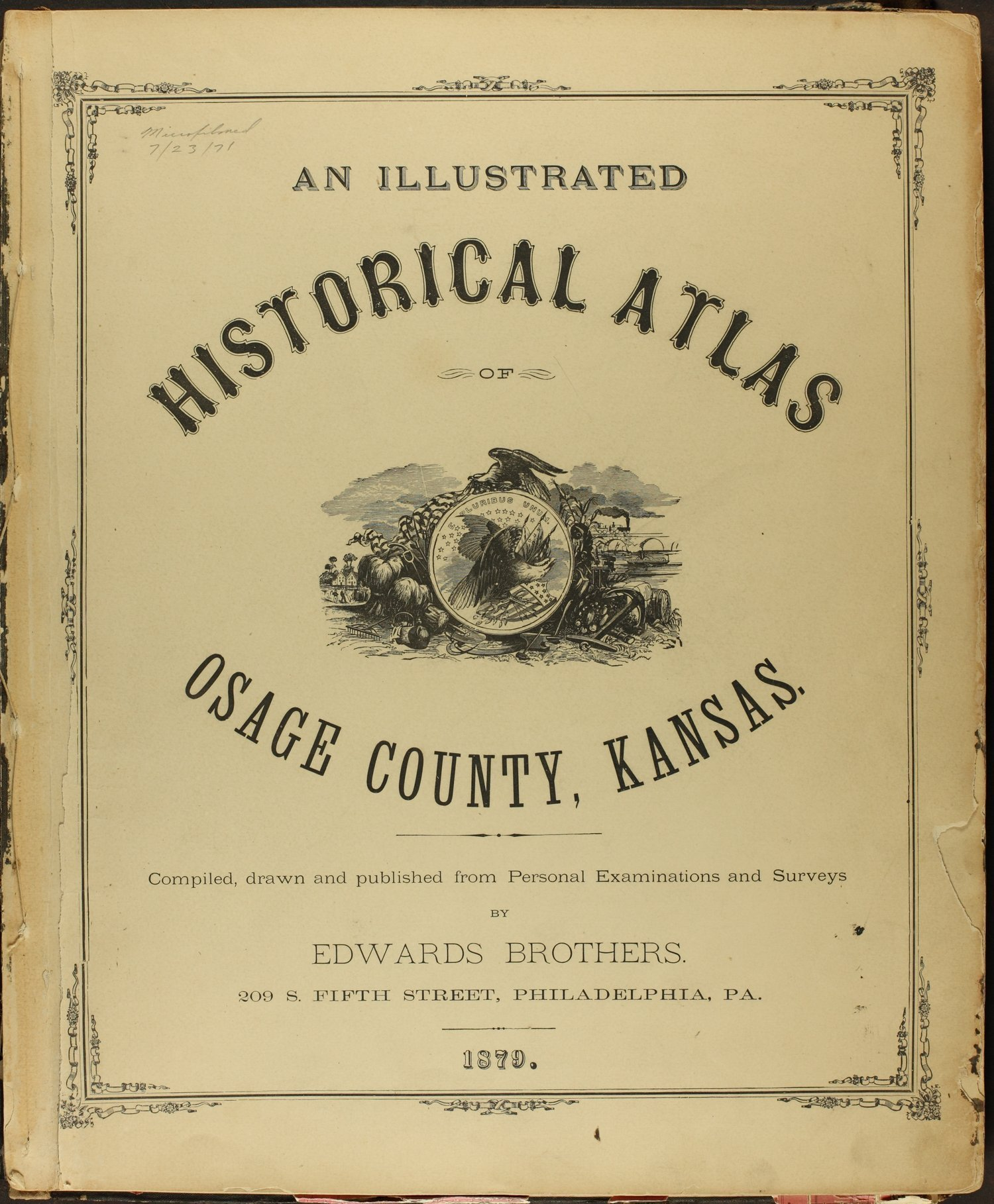 An illustrated historical atlas of Osage County, Kansas - Title Page