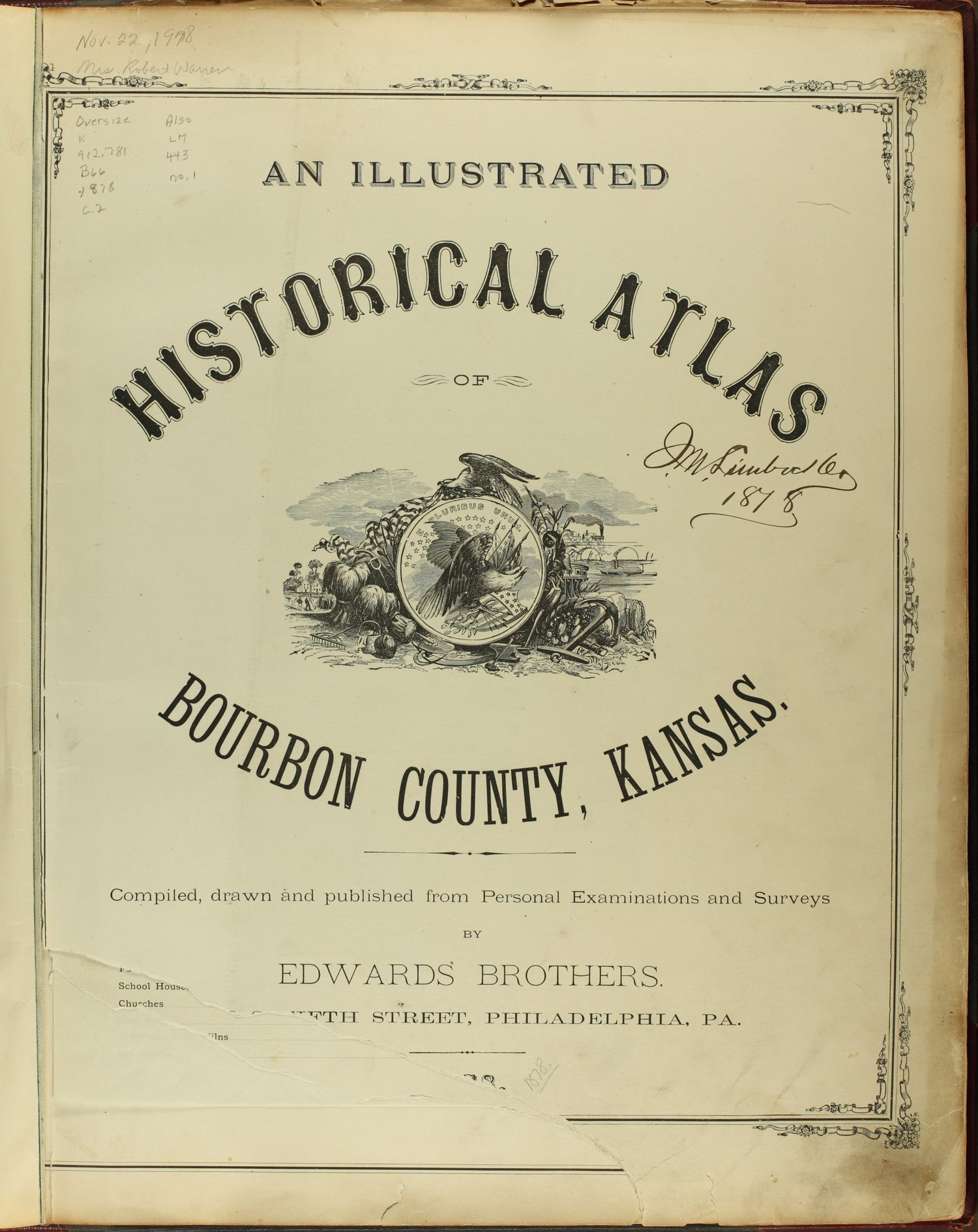 An illustrated historical atlas of Bourbon County, Kansas - Title Page