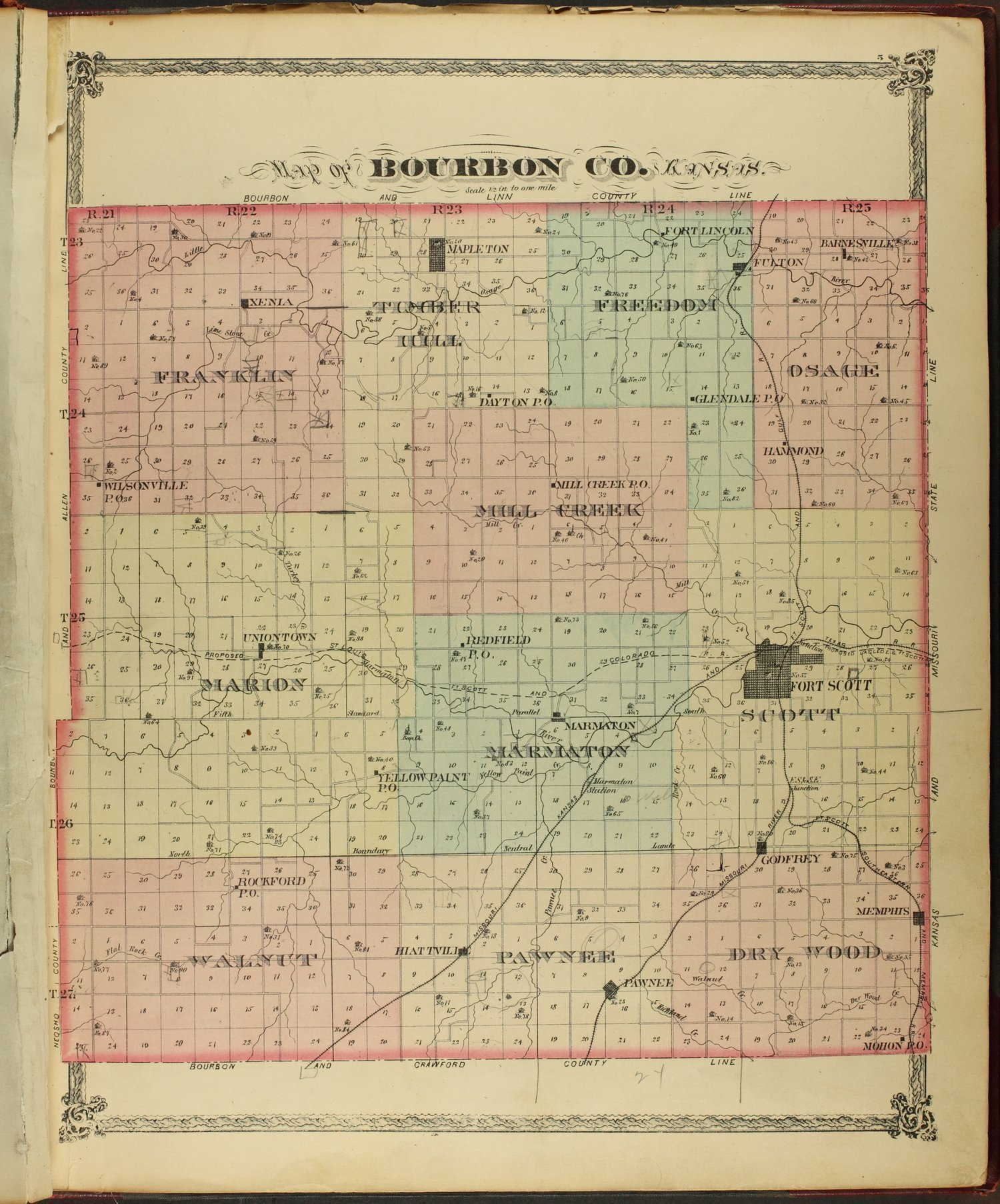 An illustrated historical atlas of Bourbon County, Kansas - 5