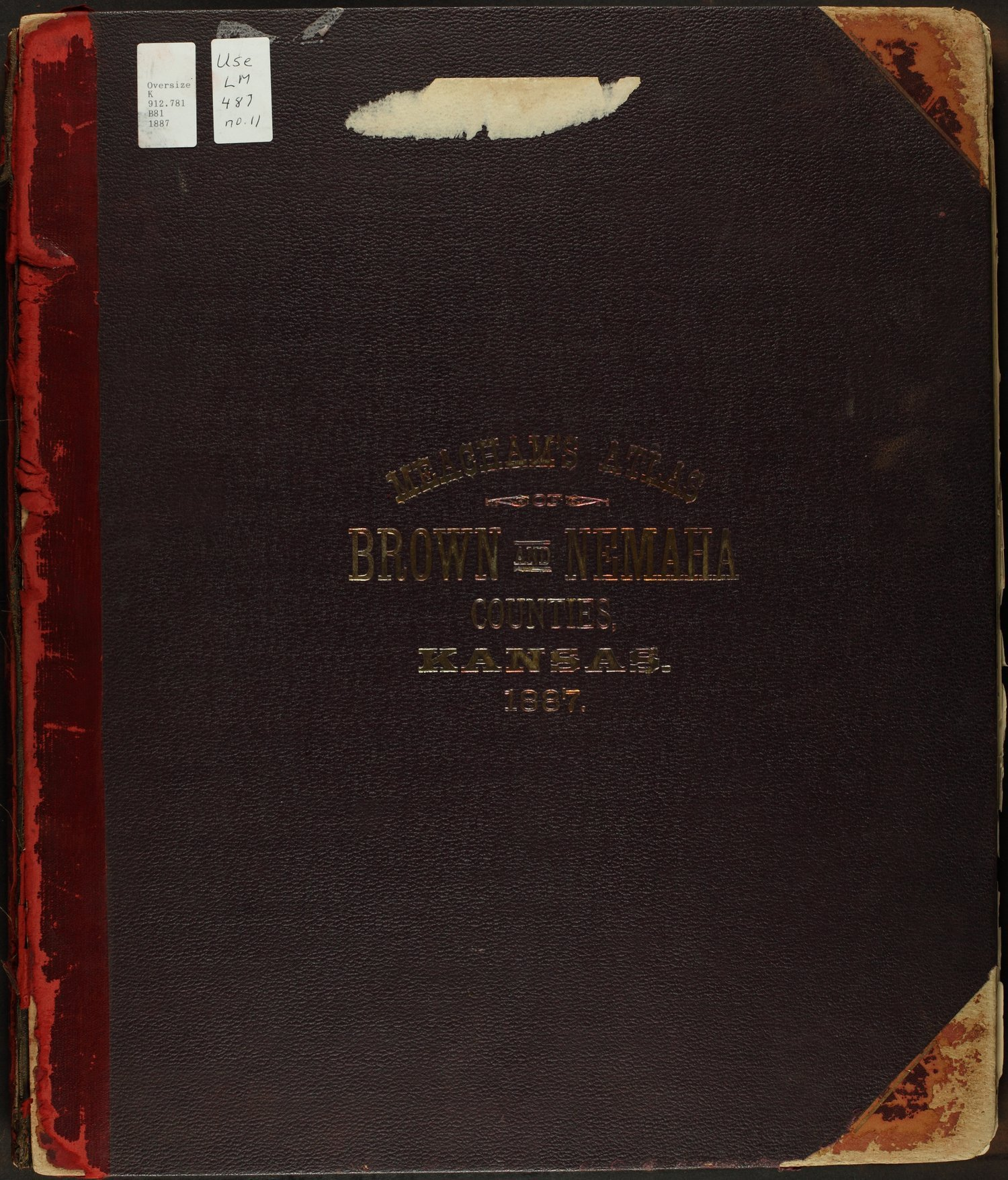 Meacham's illustrated atlas of Brown and Nemaha counties, Kansas - Front Cover