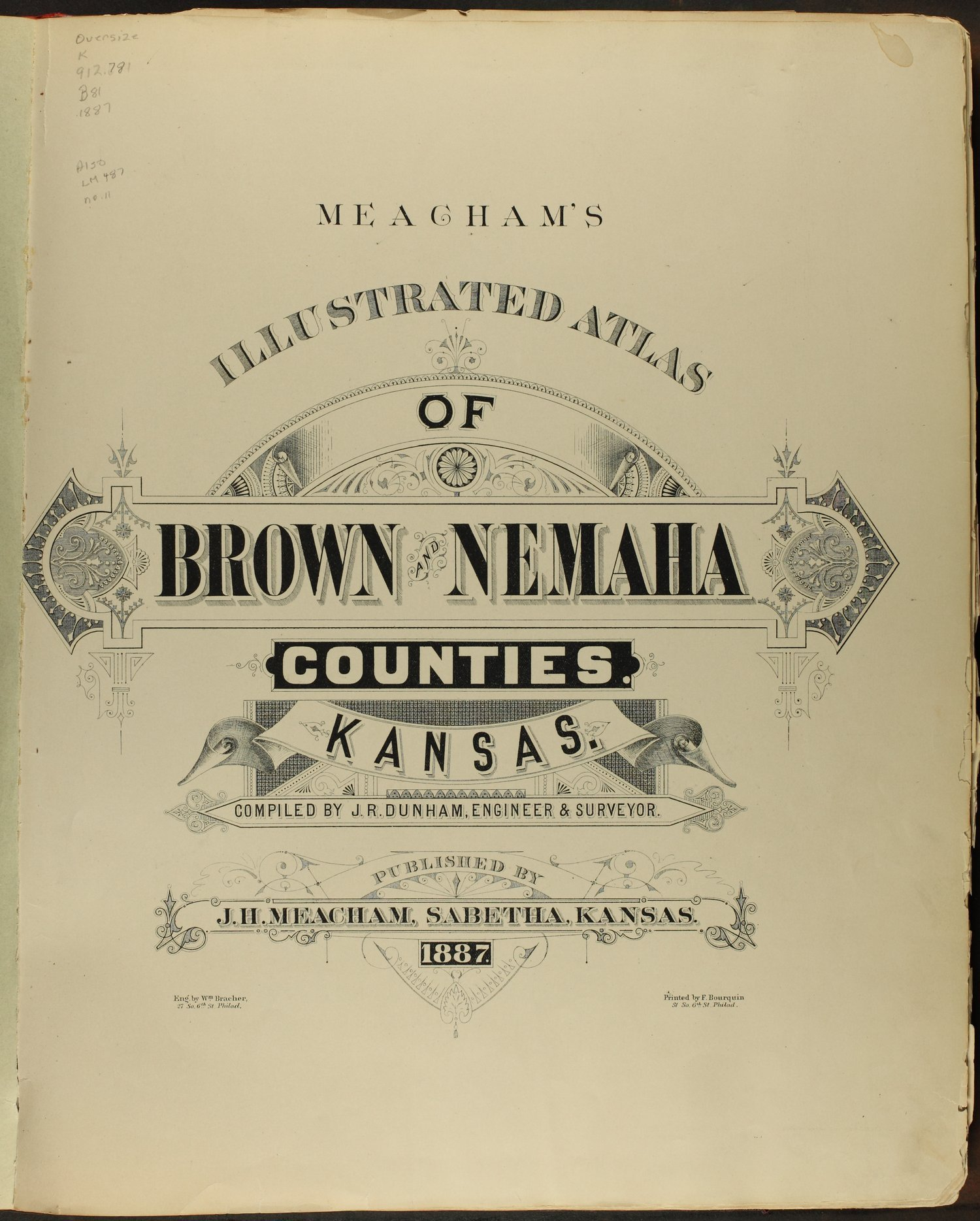 Meacham's illustrated atlas of Brown and Nemaha counties, Kansas - Title Page