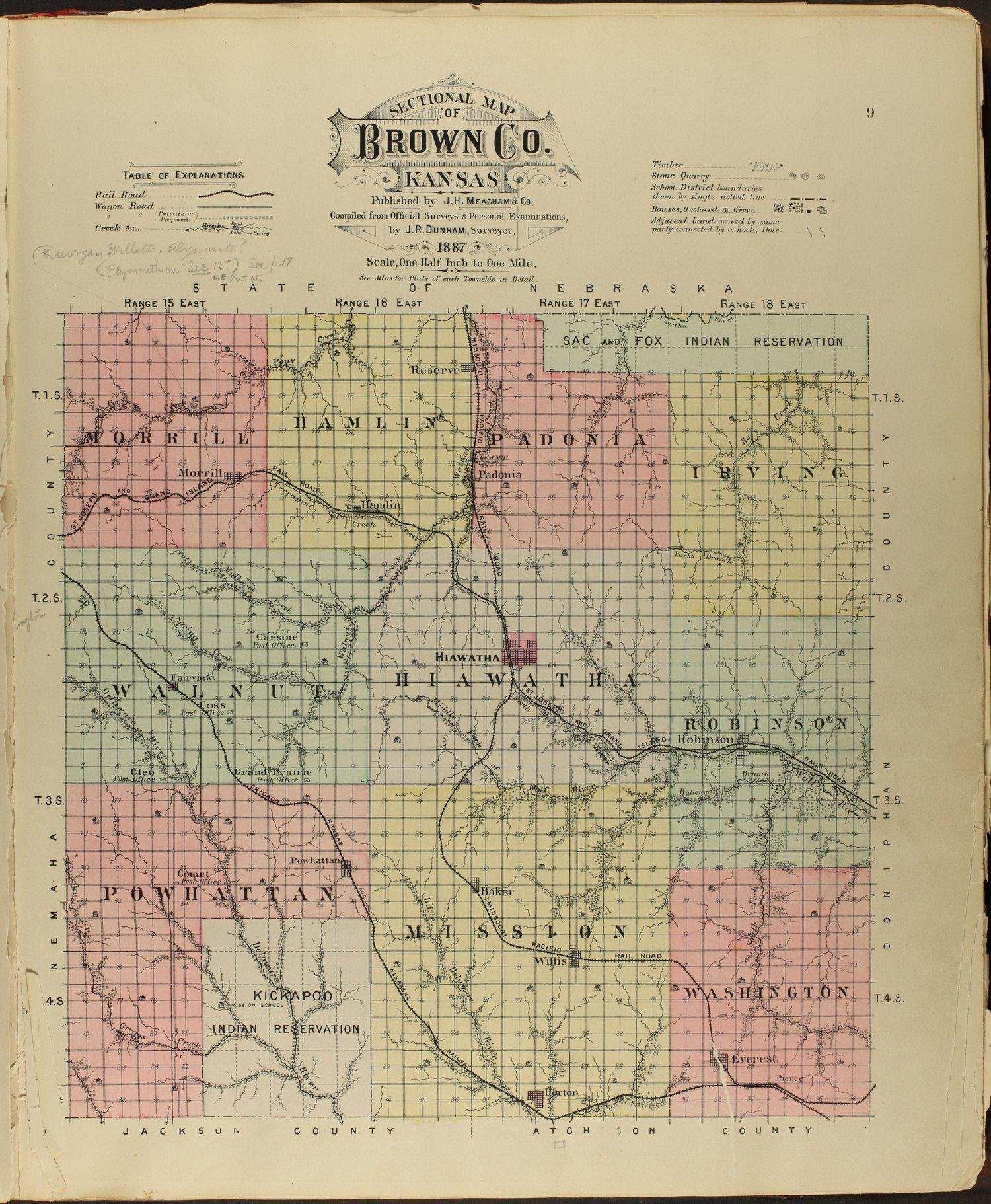 Meacham's illustrated atlas of Brown and Nemaha counties, Kansas - 9