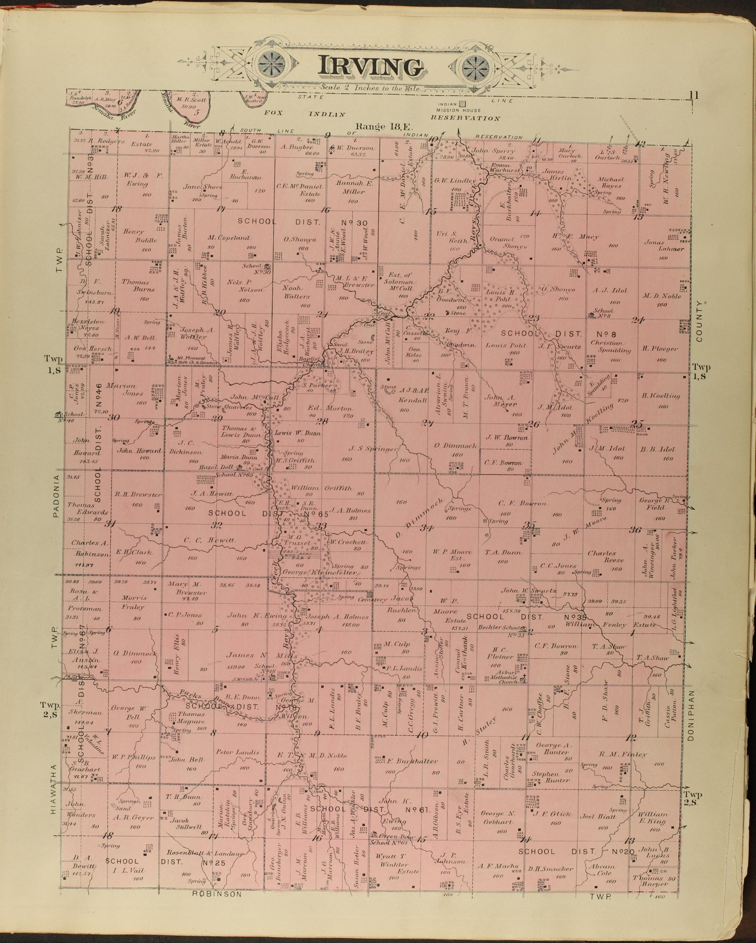 Meacham's illustrated atlas of Brown and Nemaha counties, Kansas - 11