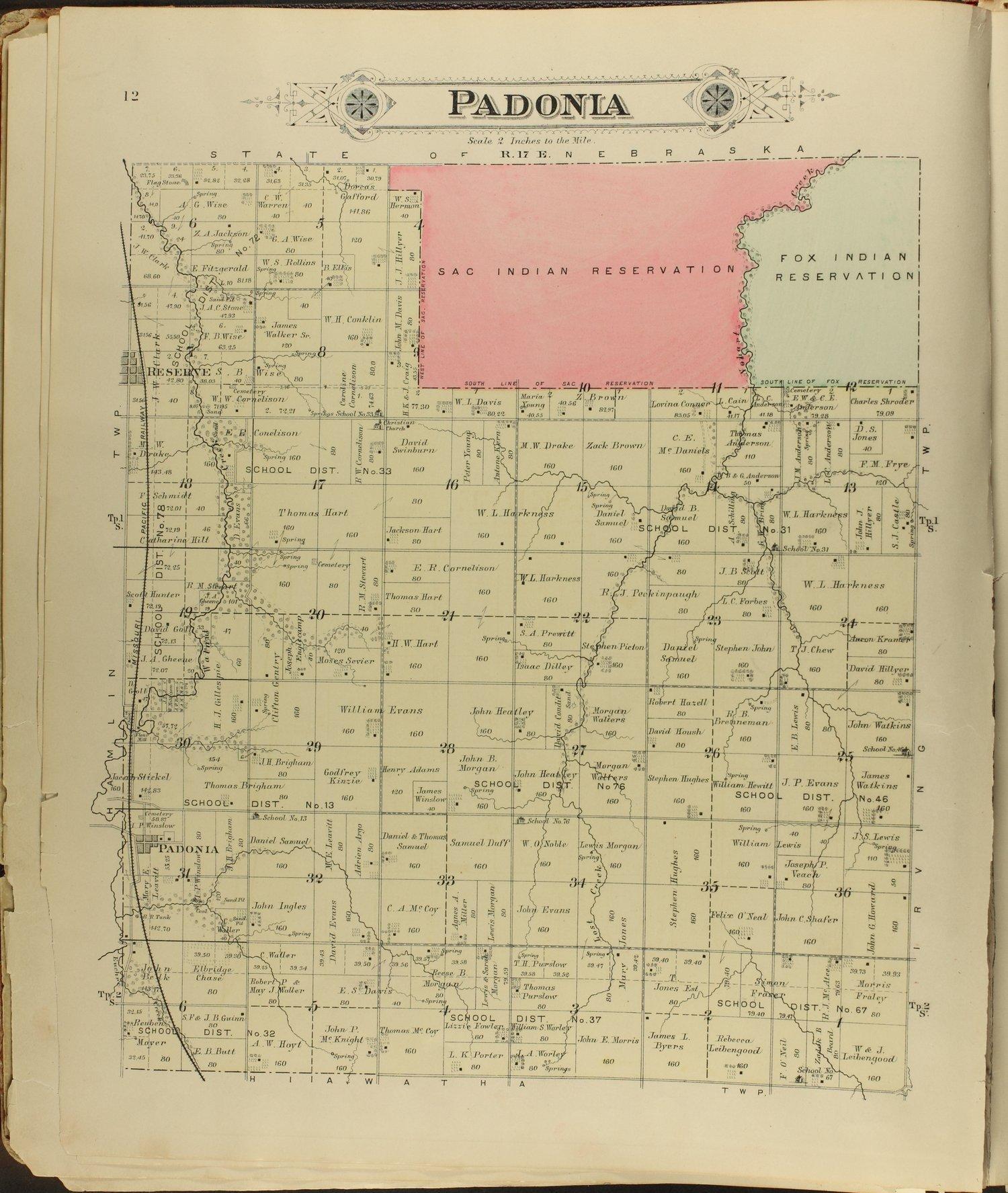 Meacham's illustrated atlas of Brown and Nemaha counties, Kansas - 12