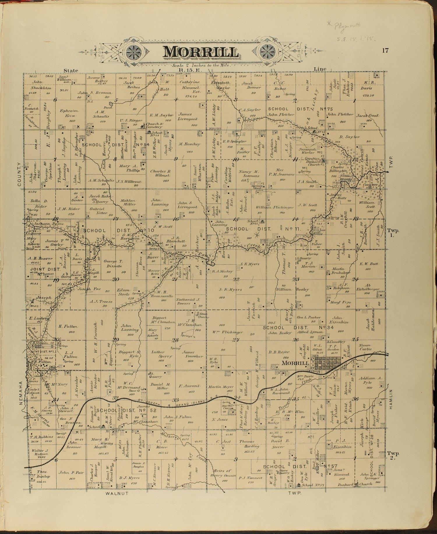 Meacham's illustrated atlas of Brown and Nemaha counties, Kansas - 17