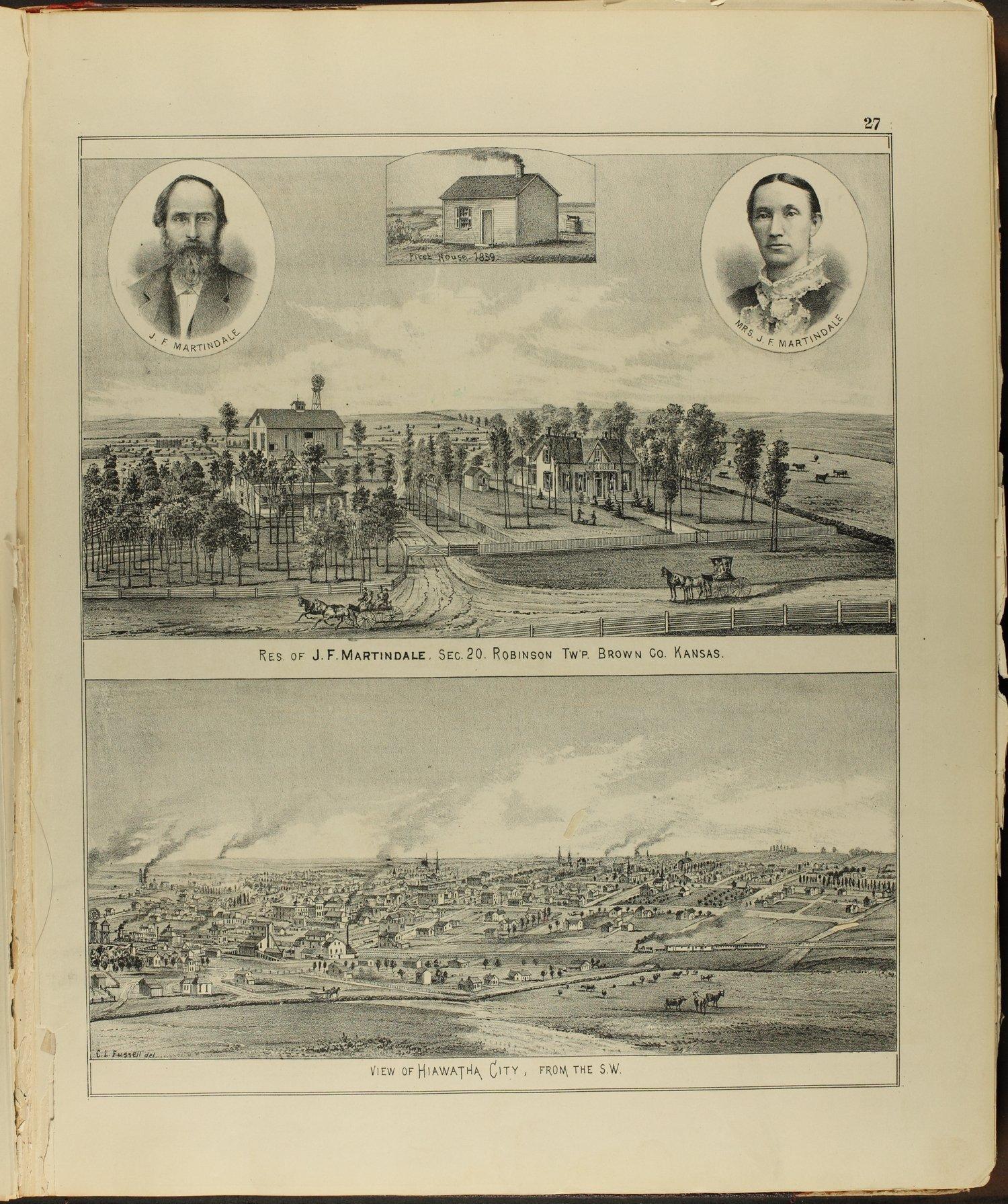 Meacham's illustrated atlas of Brown and Nemaha counties, Kansas - 27