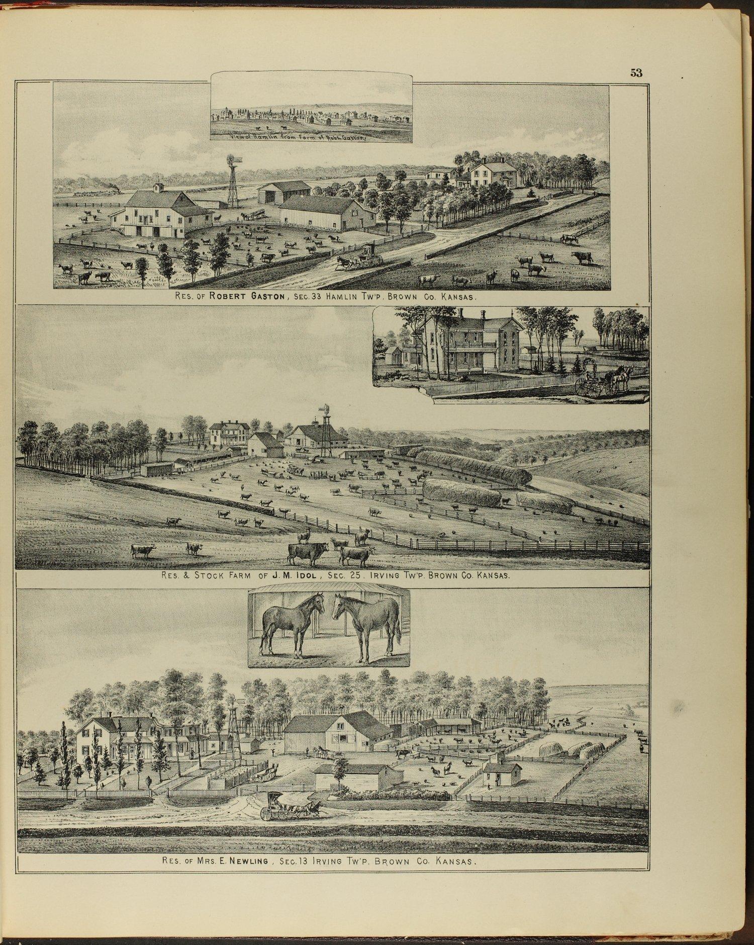 Meacham's illustrated atlas of Brown and Nemaha counties, Kansas - 53