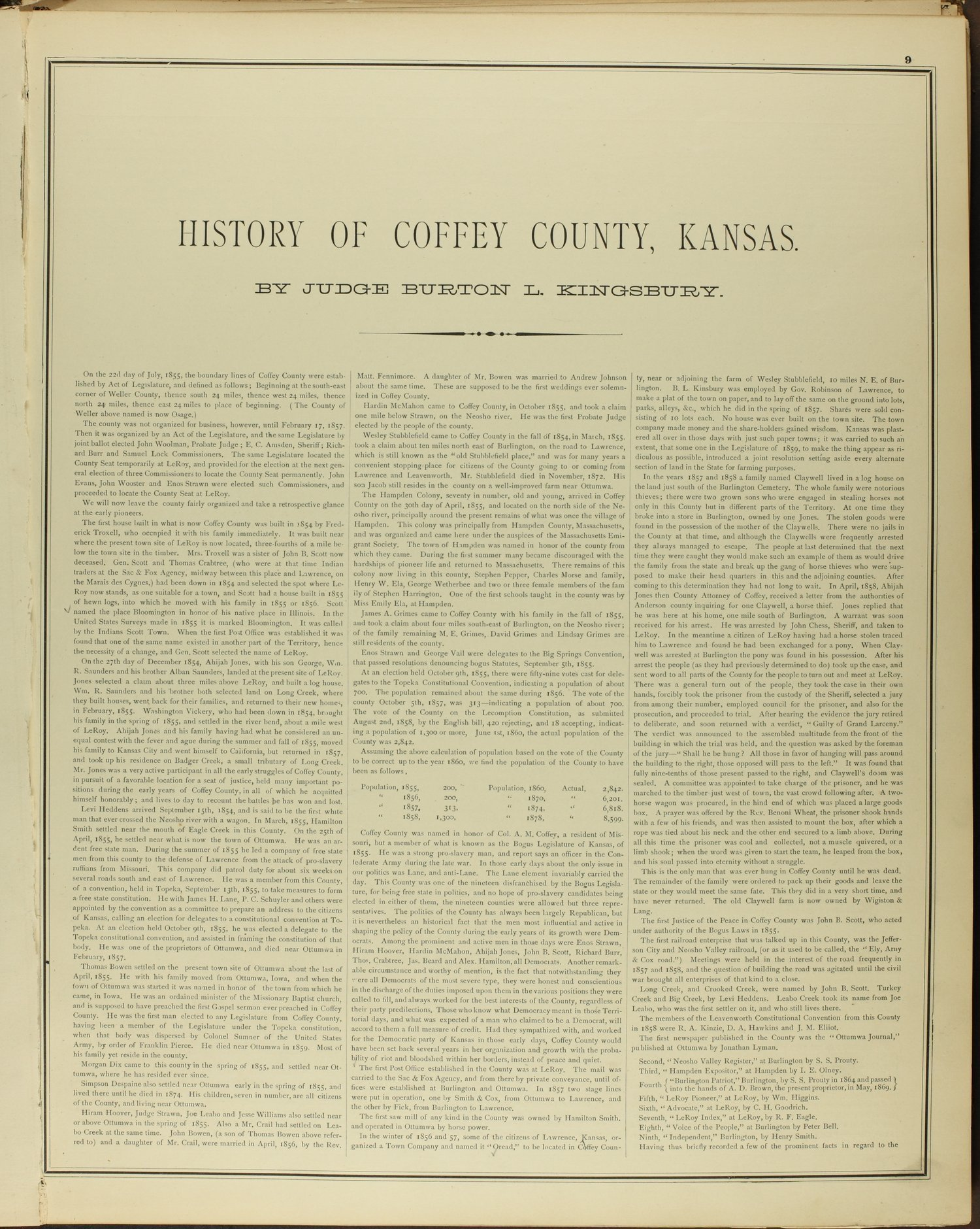 An illustrated historical atlas of Coffey County, Kansas - 9