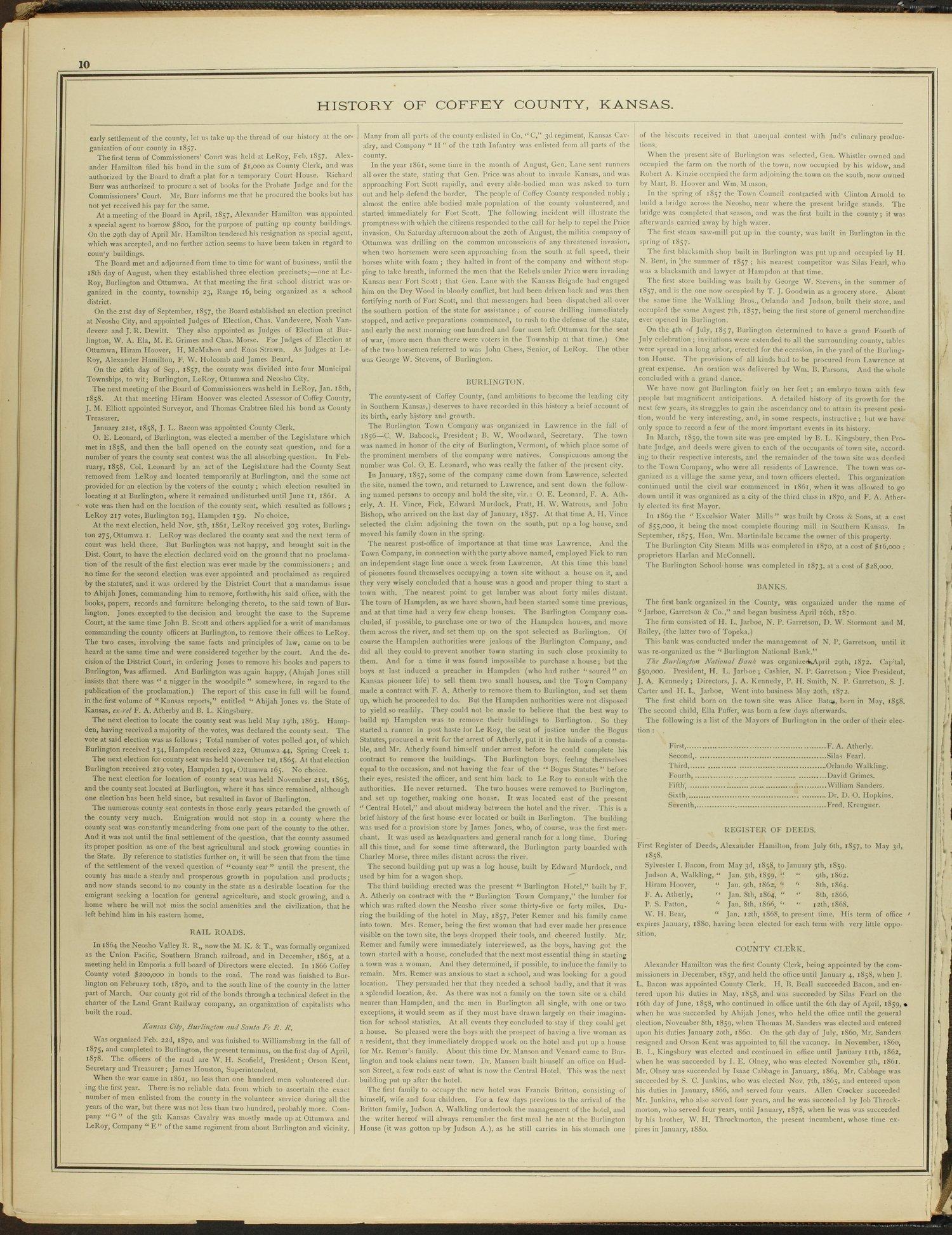 An illustrated historical atlas of Coffey County, Kansas - 10