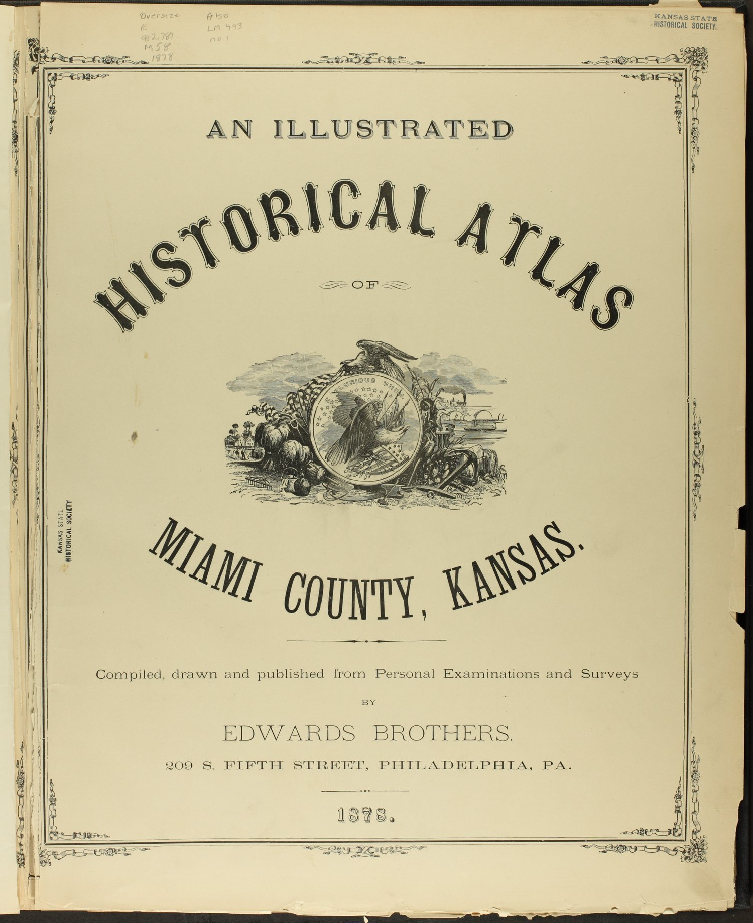 An illustrated historical atlas of Miami County, Kansas - Title Page