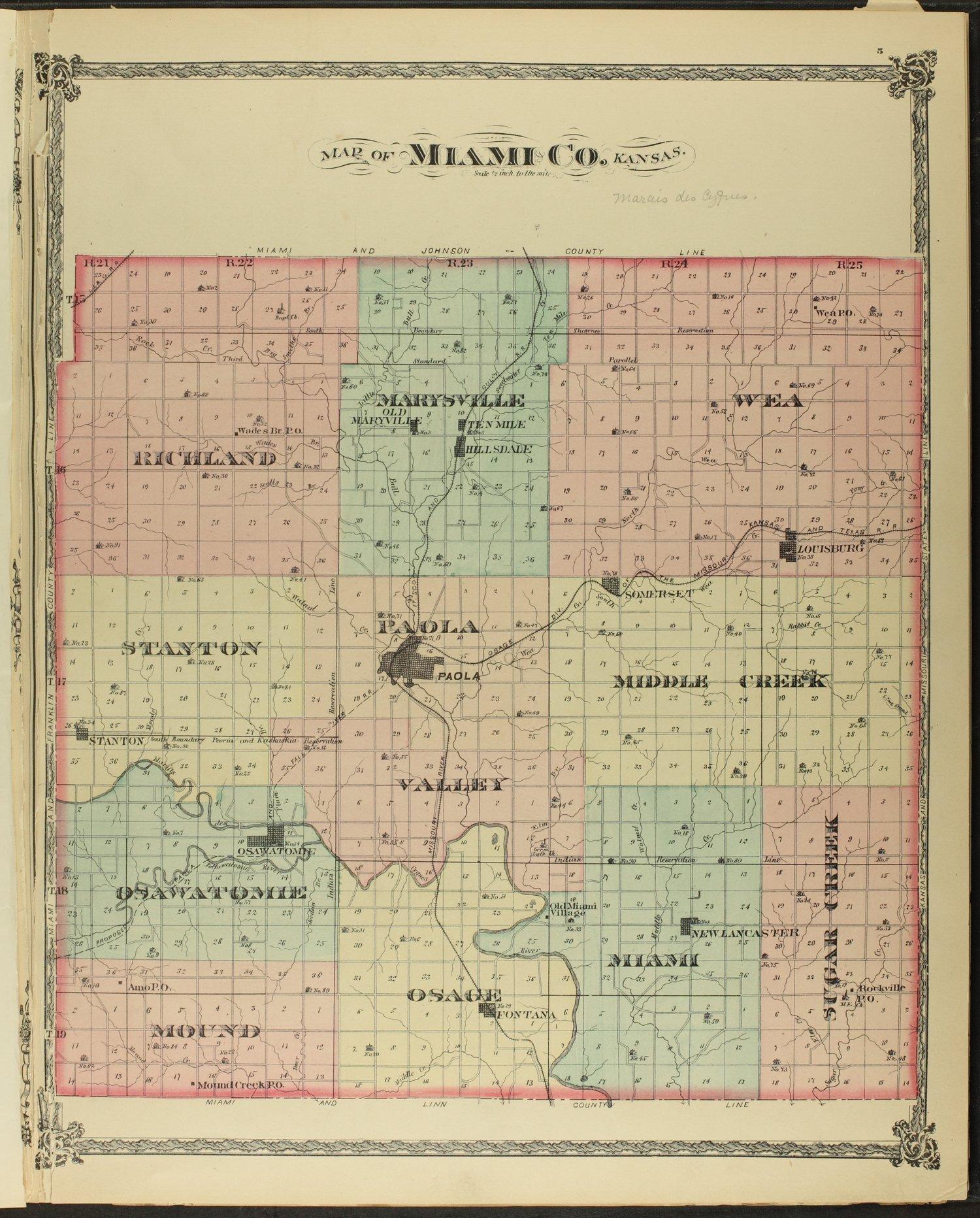 An illustrated historical atlas of Miami County, Kansas - 5