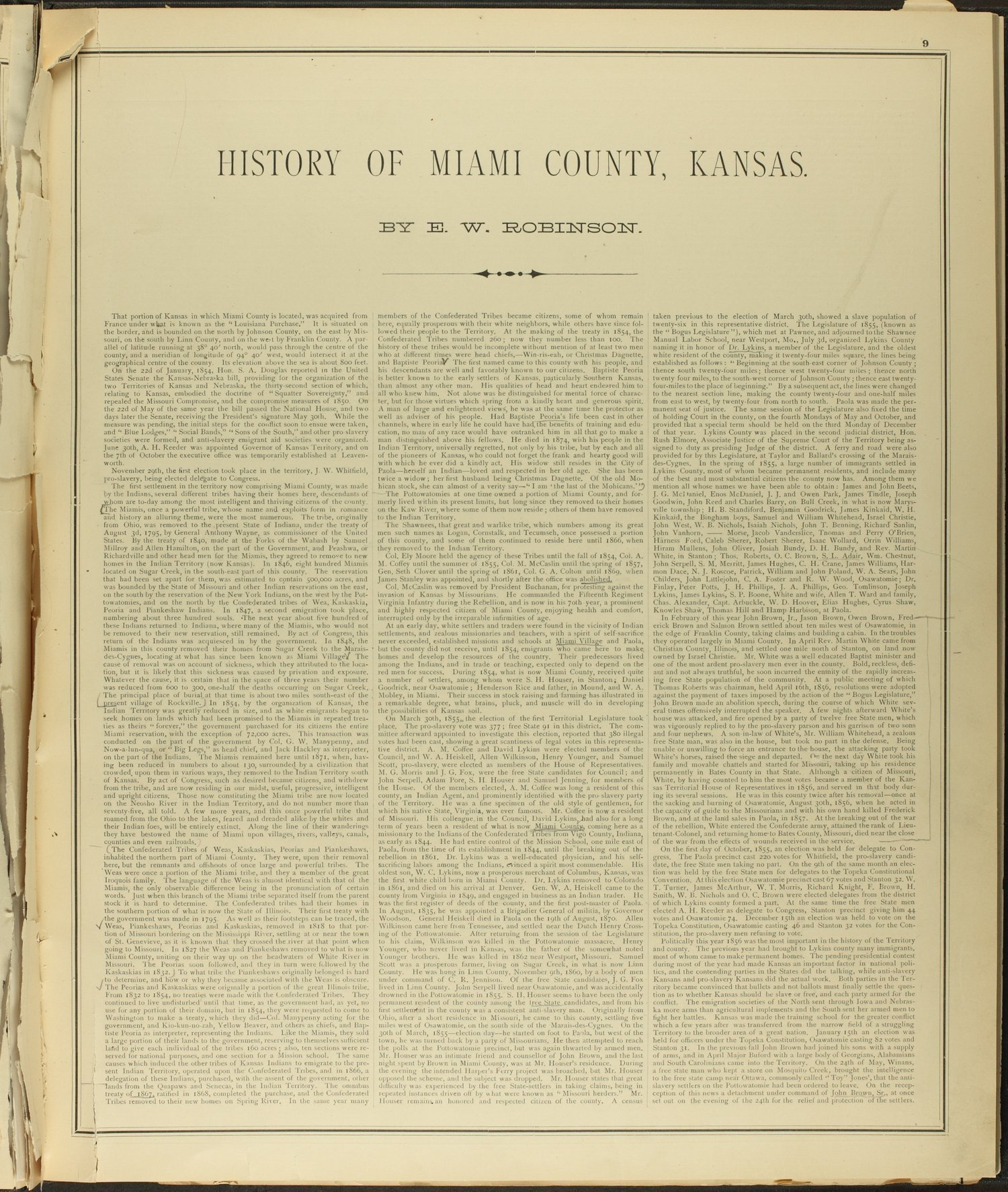 An illustrated historical atlas of Miami County, Kansas - 9