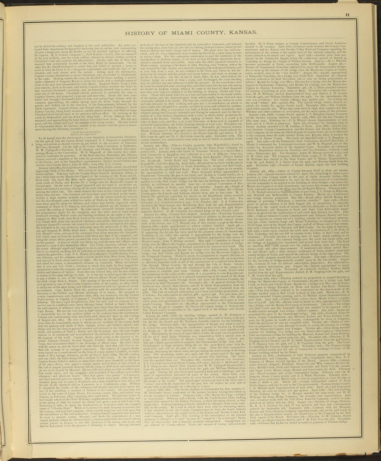 An illustrated historical atlas of Miami County, Kansas - 11