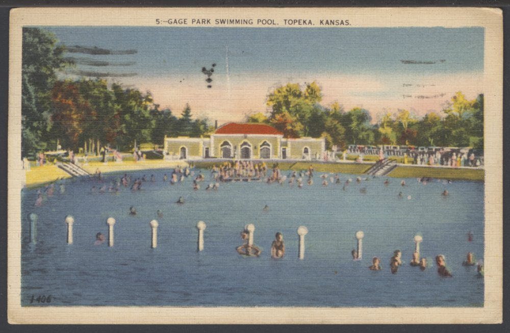 Swimming Pool At Gage Park In Topeka Kansas Kansas Memory Kansas Historical Society