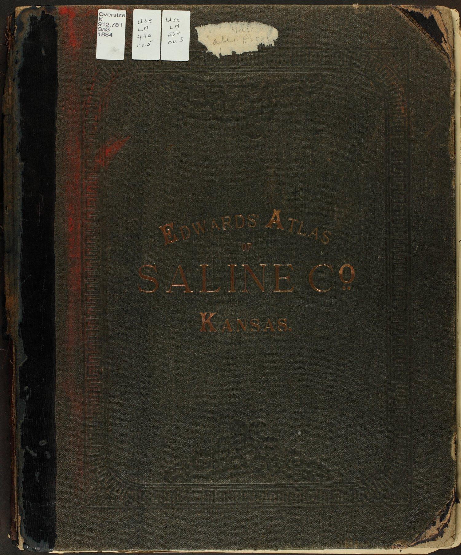 Edwards' Atlas of Saline Co., Kansas - Front Cover