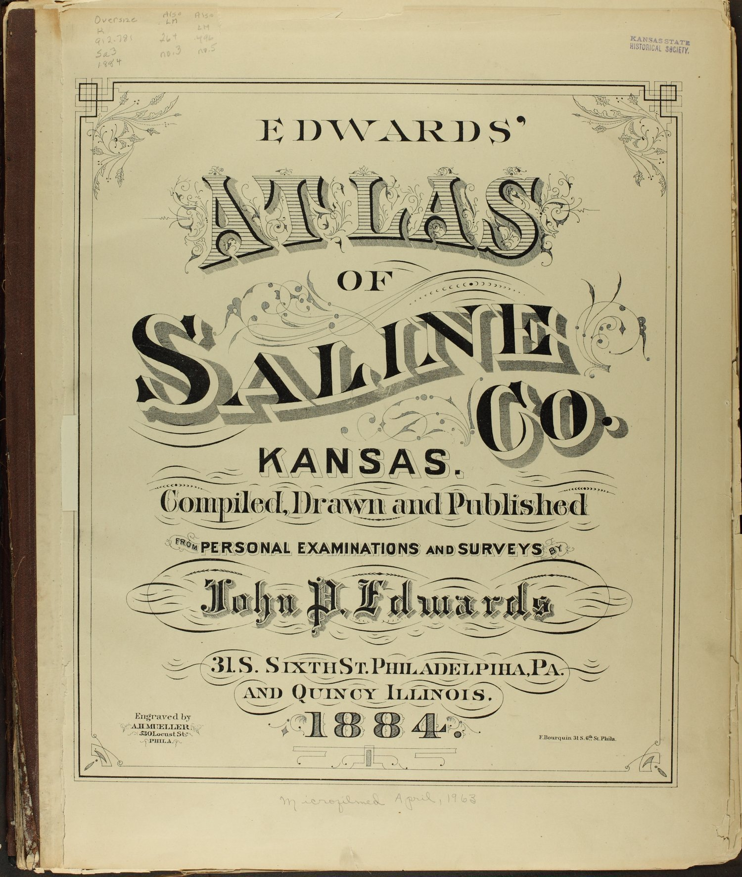 Edwards' Atlas of Saline Co., Kansas - Title Page