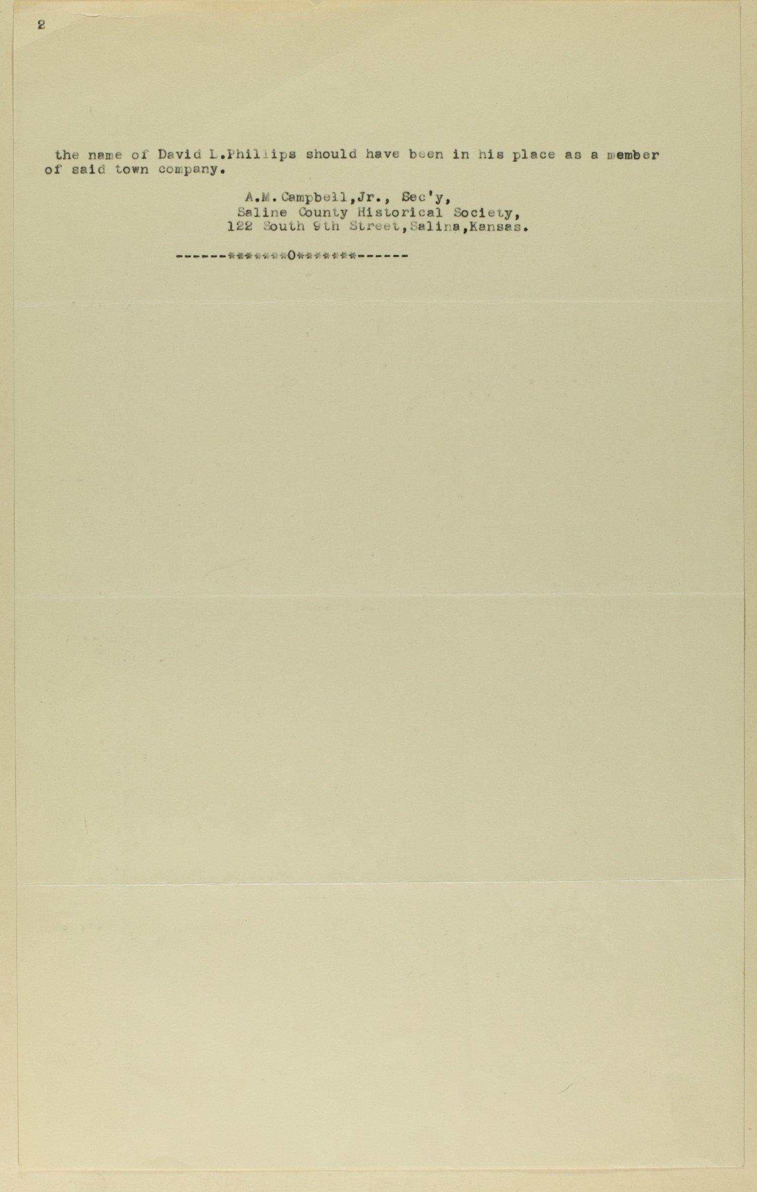 Edwards' Atlas of Saline Co., Kansas - insert
