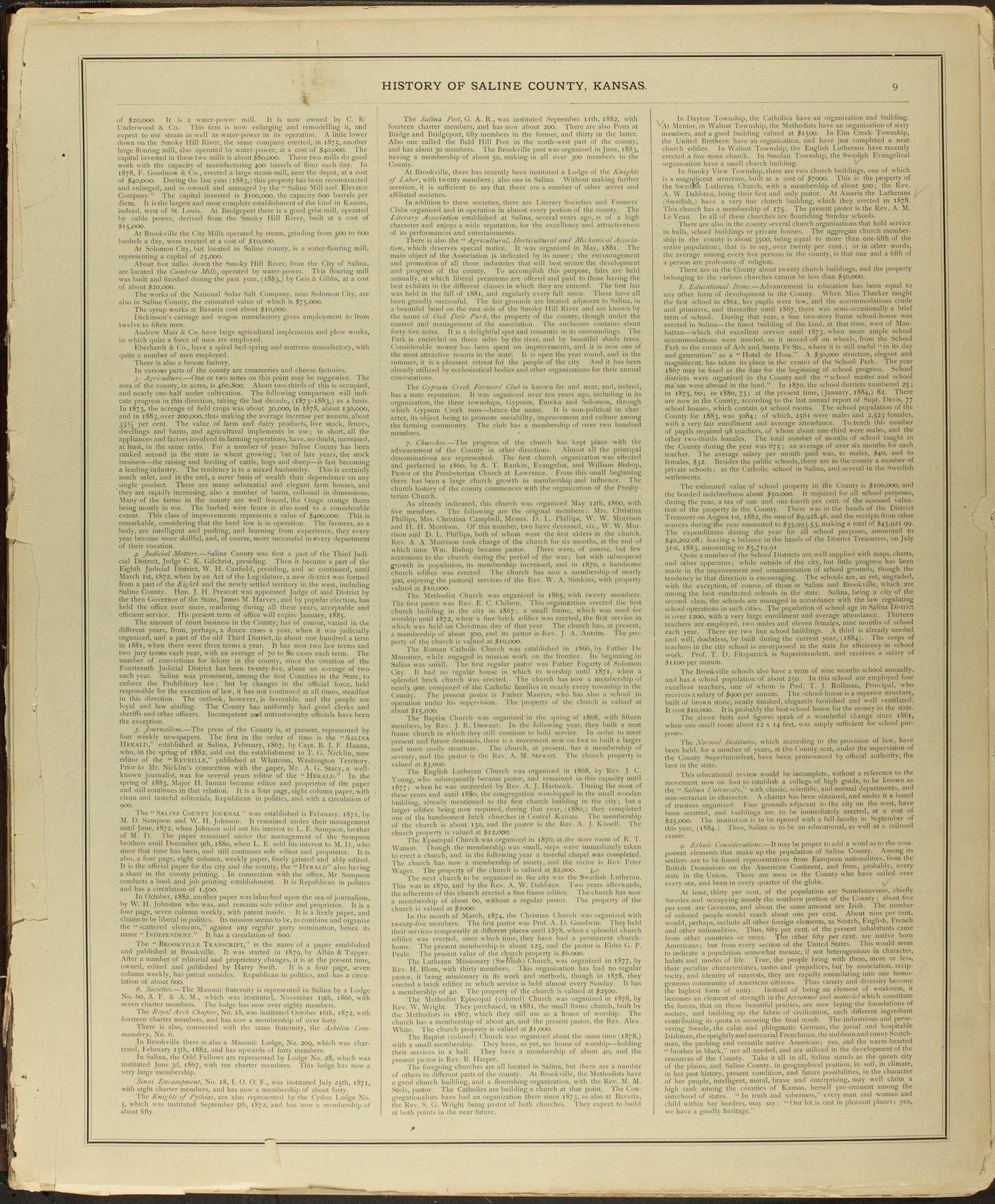 Edwards' Atlas of Saline Co., Kansas - 9