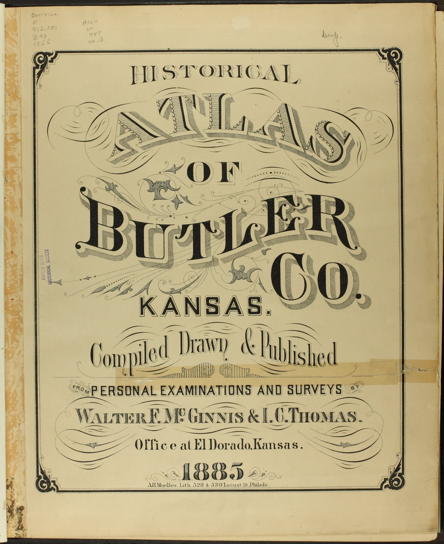 Historical atlas of Butler County, Kansas - Title Page