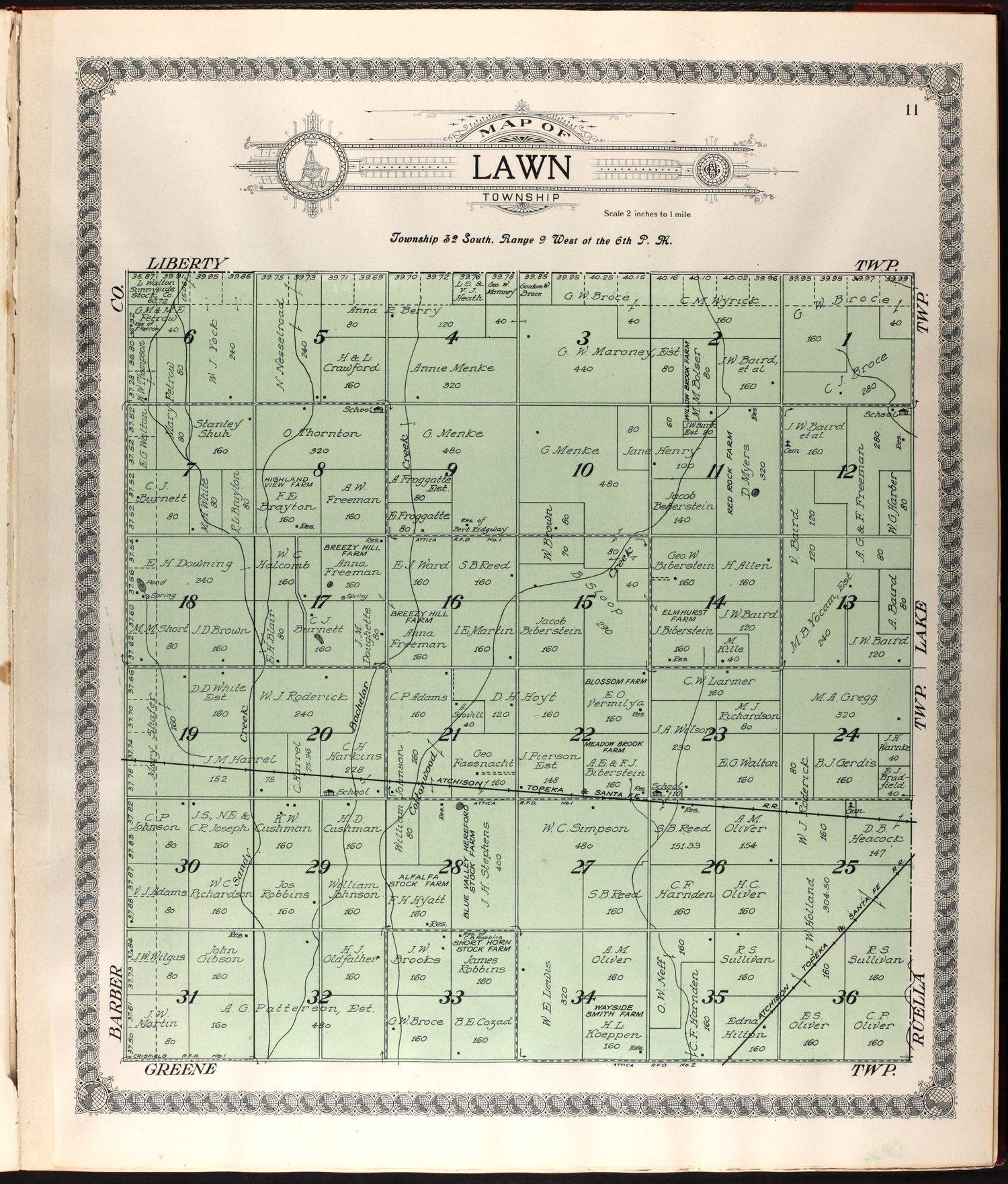 Standard atlas of Harper County, Kansas - 11